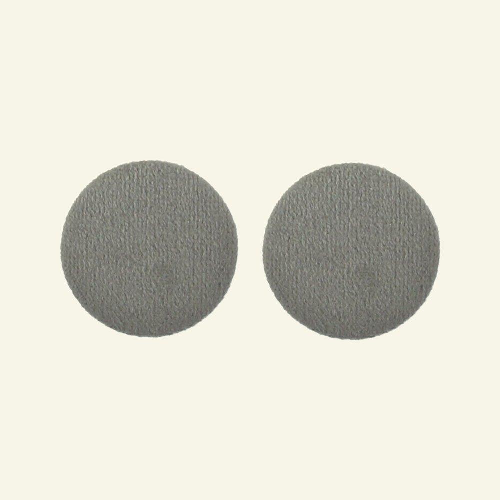 Shank button velour 30mm grey 2pcs 40504_pack