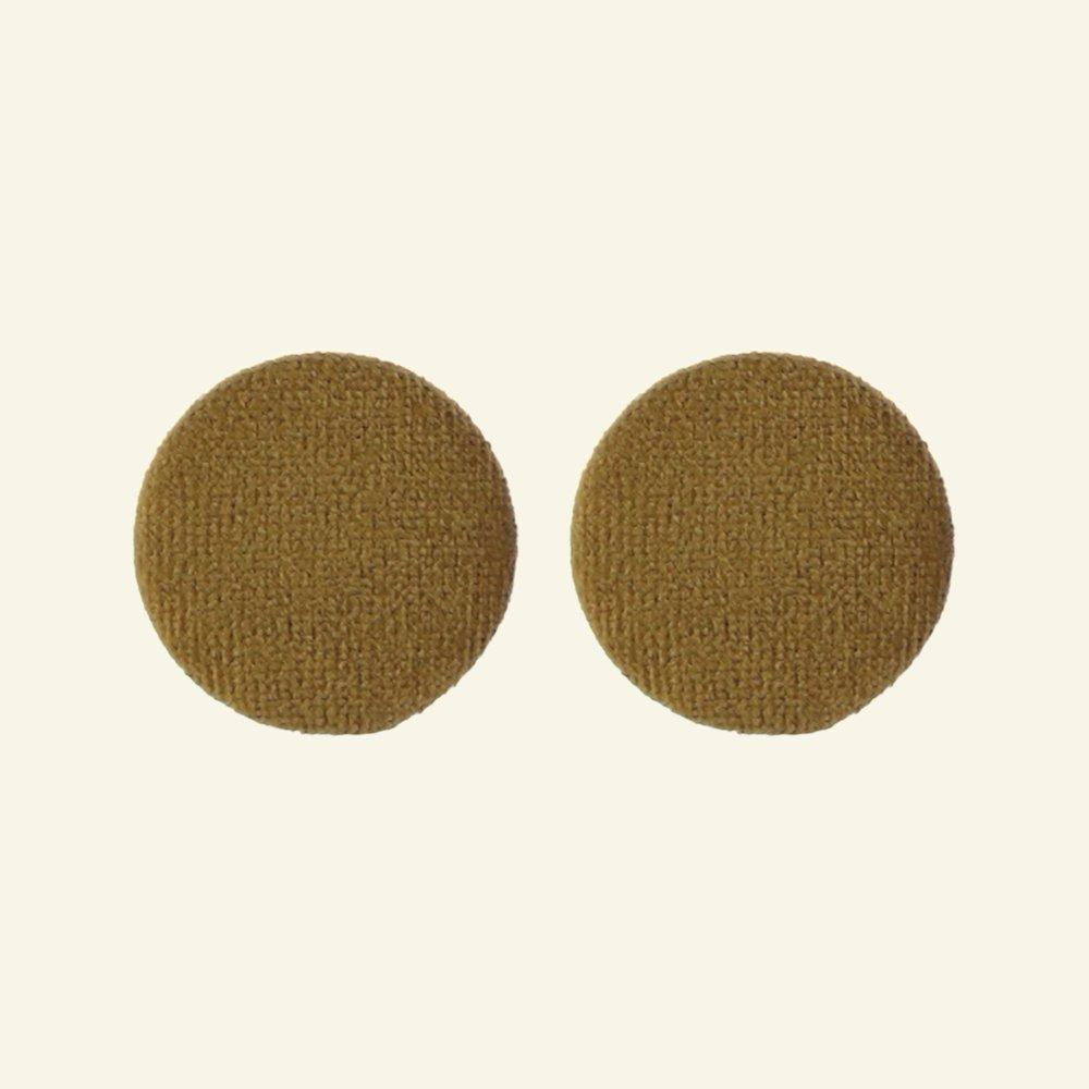 Shank button velour 30mm lightbrown 2pcs 40502_pack
