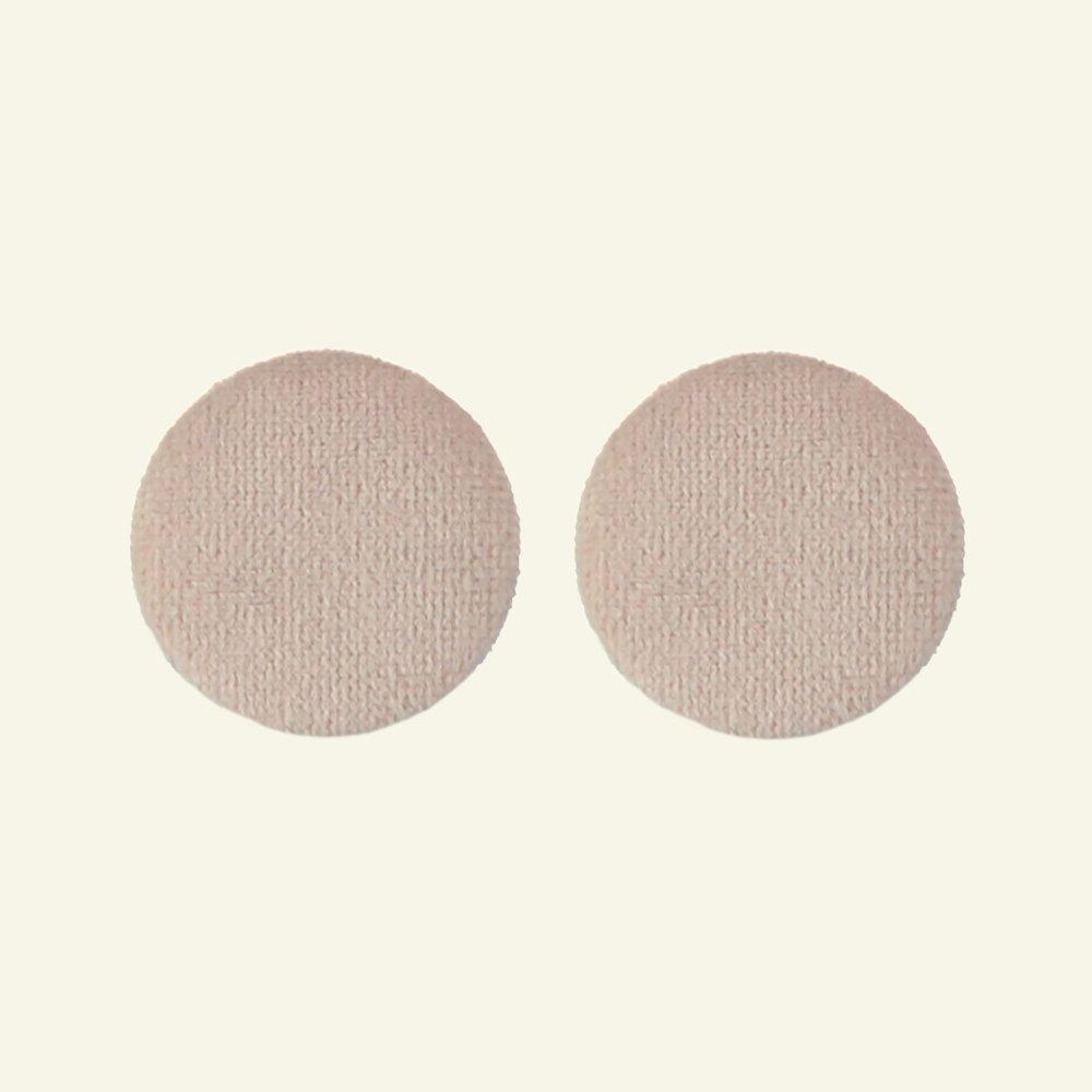 Shank button velour 30mm powder 2pcs 40506_pack