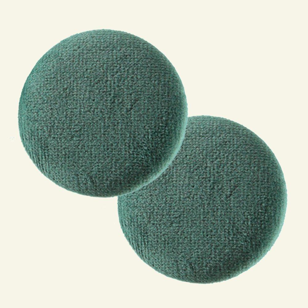 Shank button velour 45mm dark green 2pcs 41987_pack