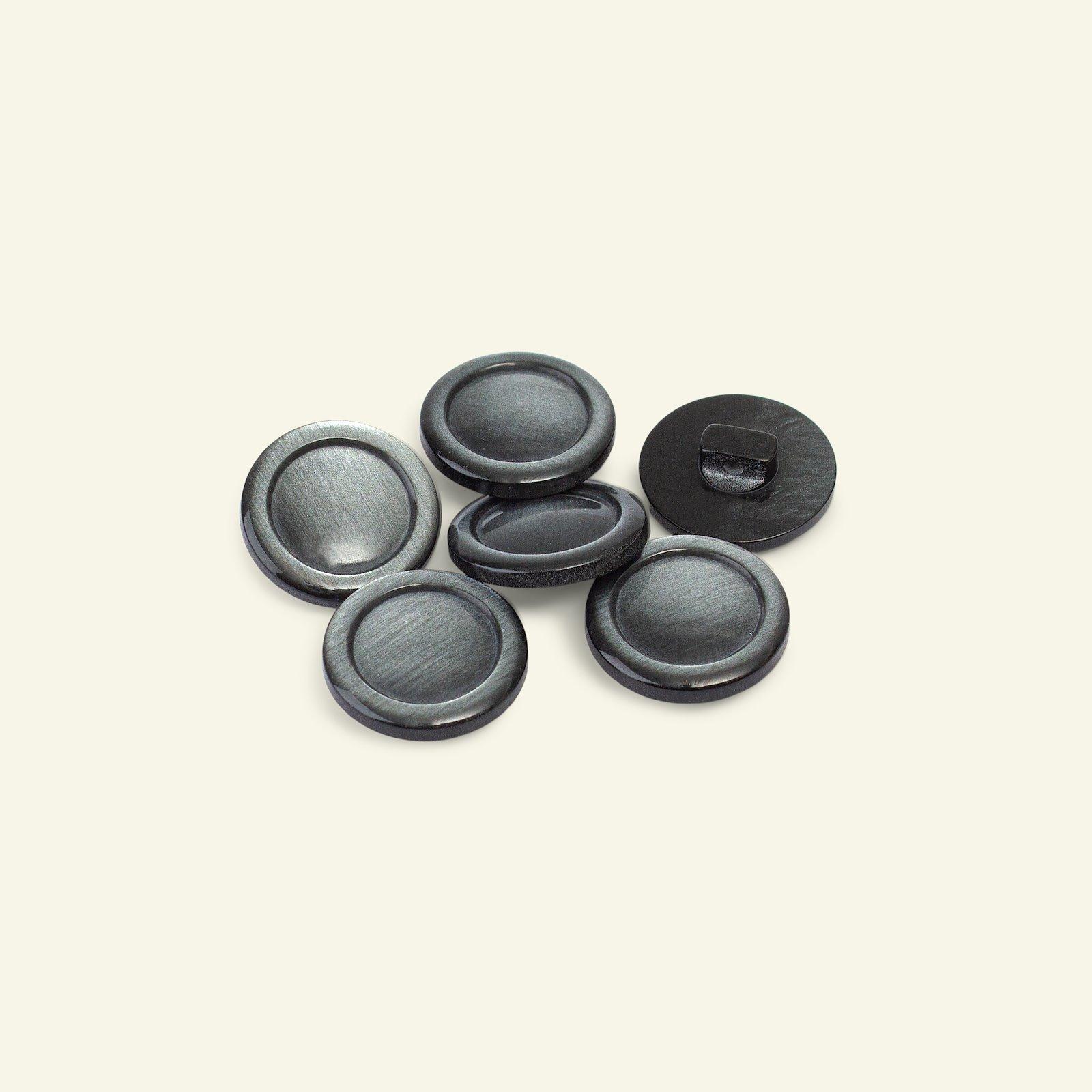 Shank button w/rim 20mm grey 6pcs 33194_pack