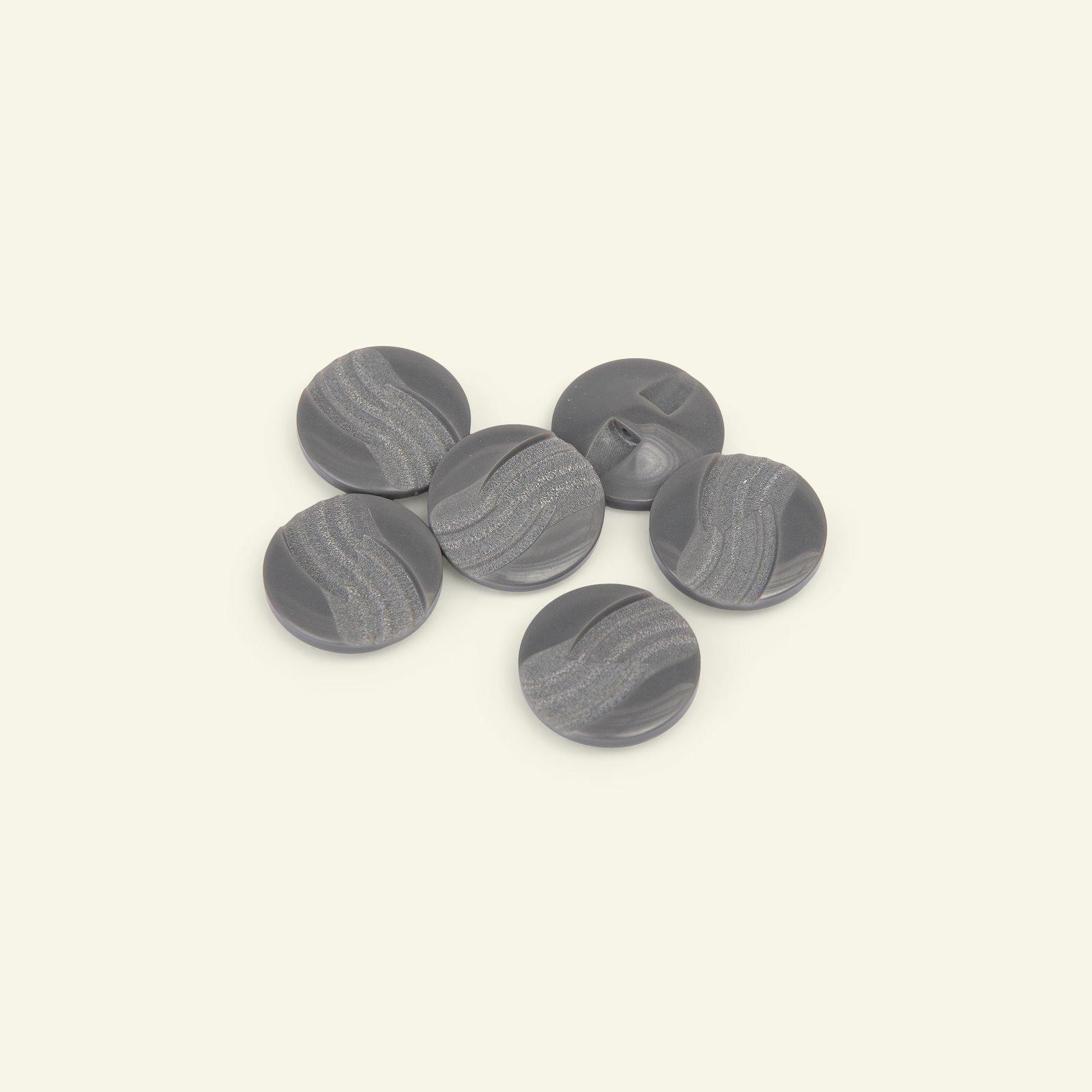 Shank button waves 18mm dark grey 6pcs 33193_pack