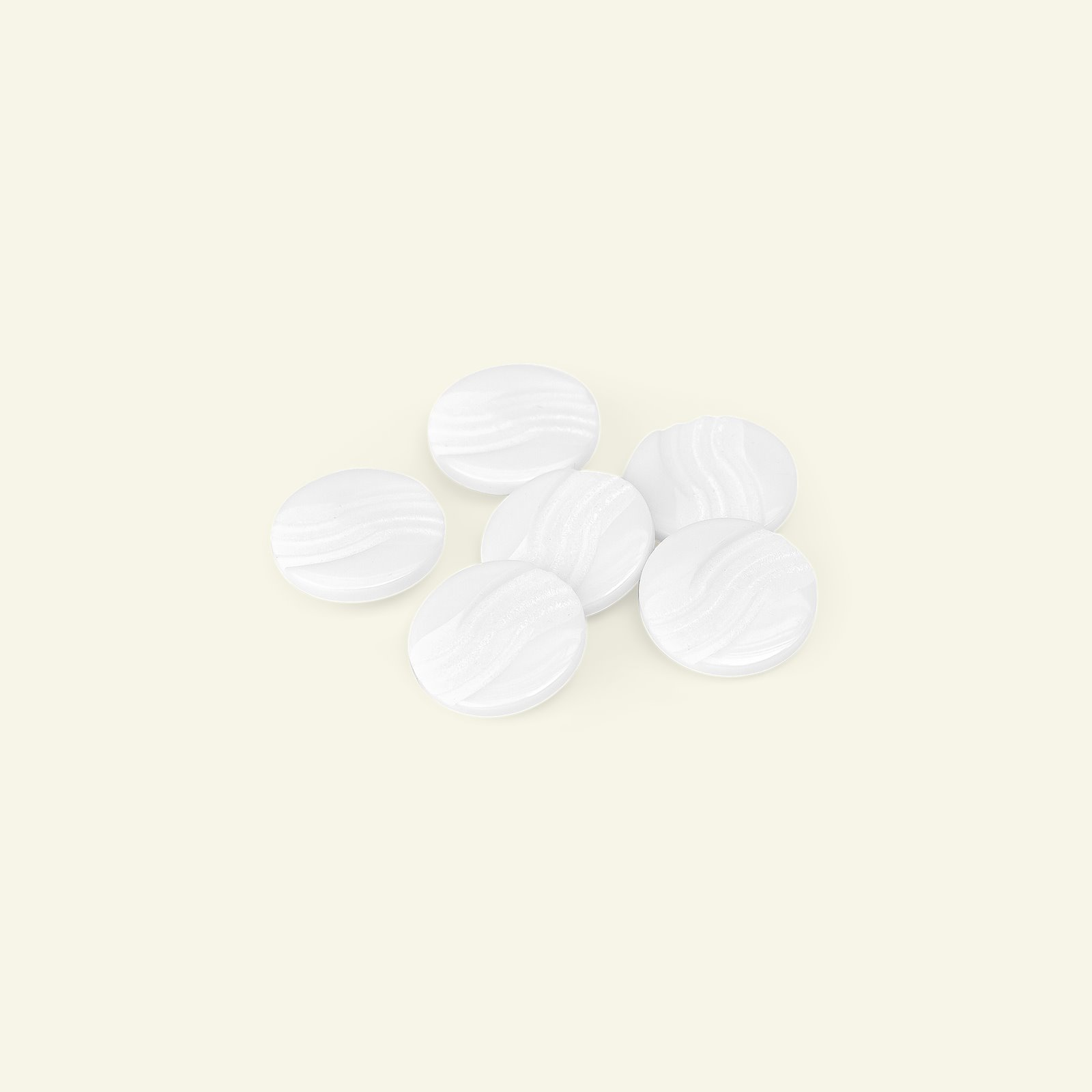 Shank button waves 18mm white 6pcs 33081_pack