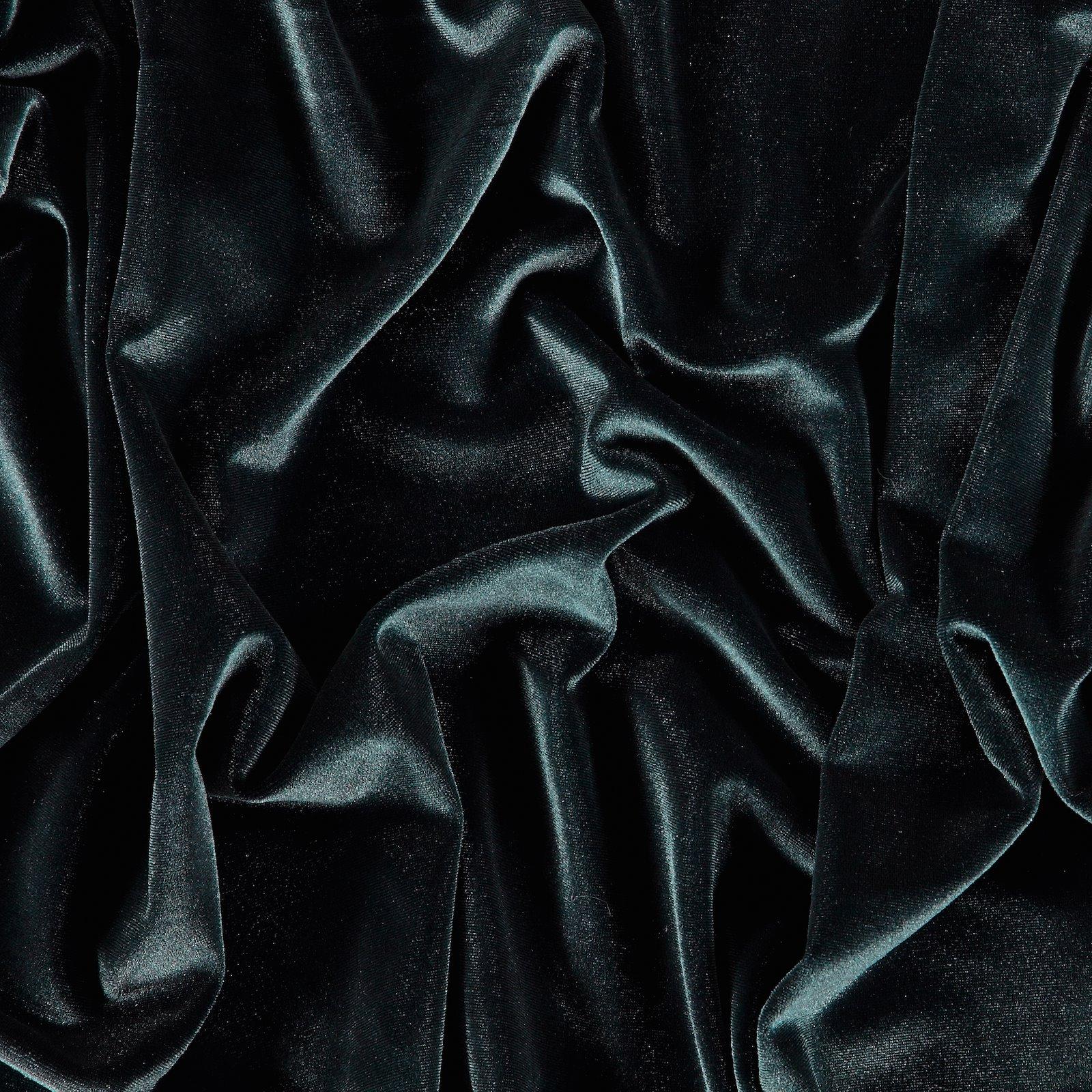 Shiny stretch velvet dark midnight blue 250687_pack