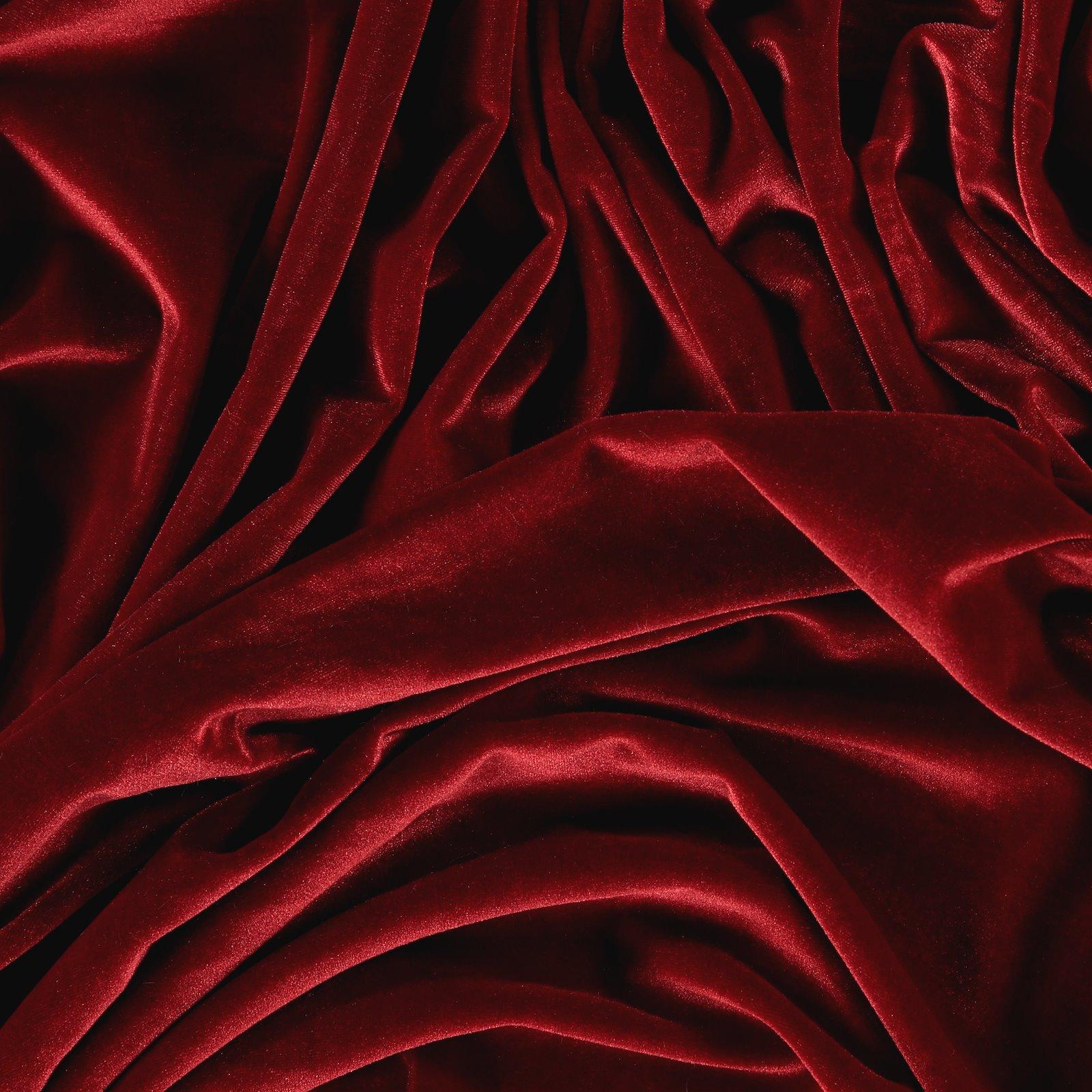 Shiny stretch velvet dark red 250690_pack