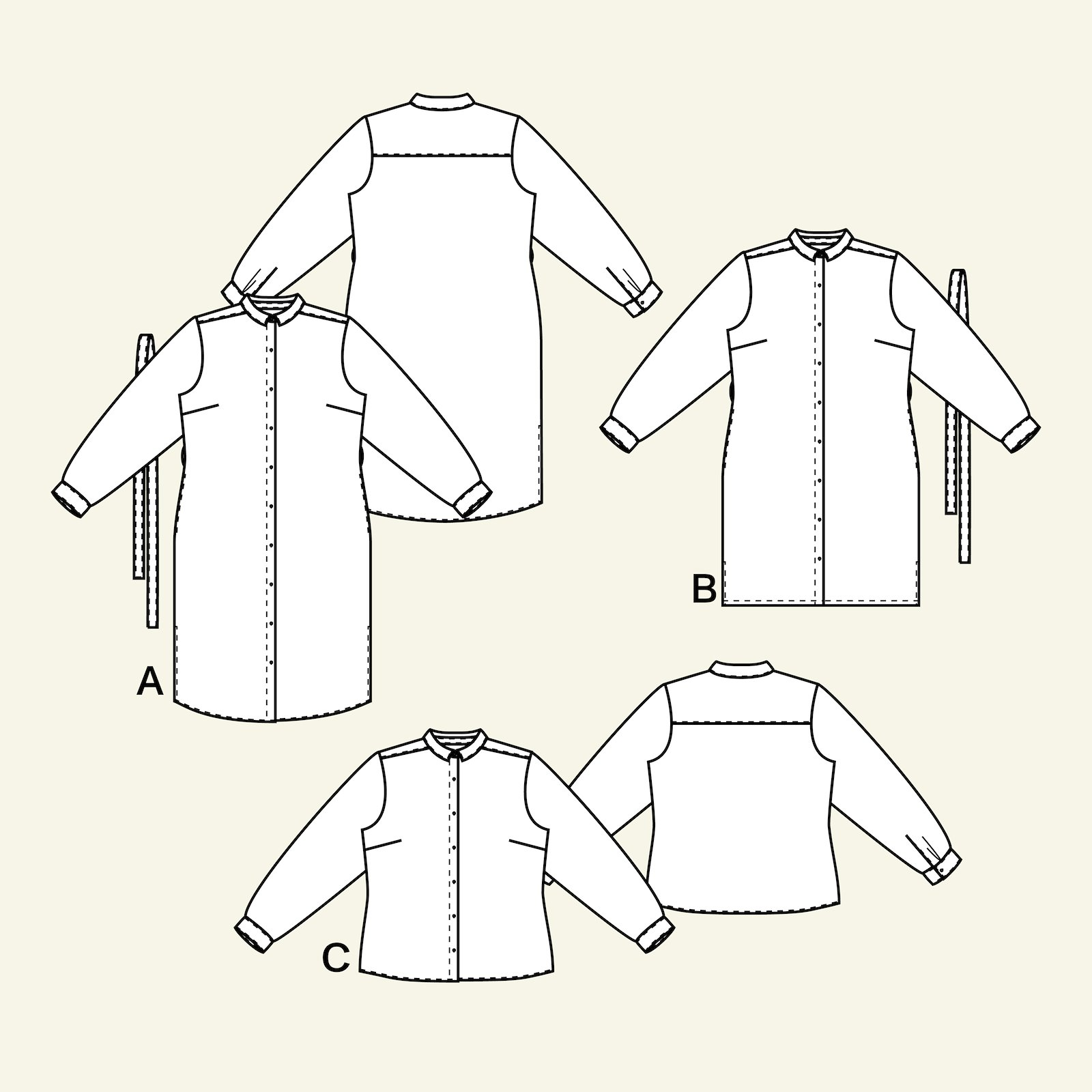 Shirt and shirtdress, 42/14 p23156_pack