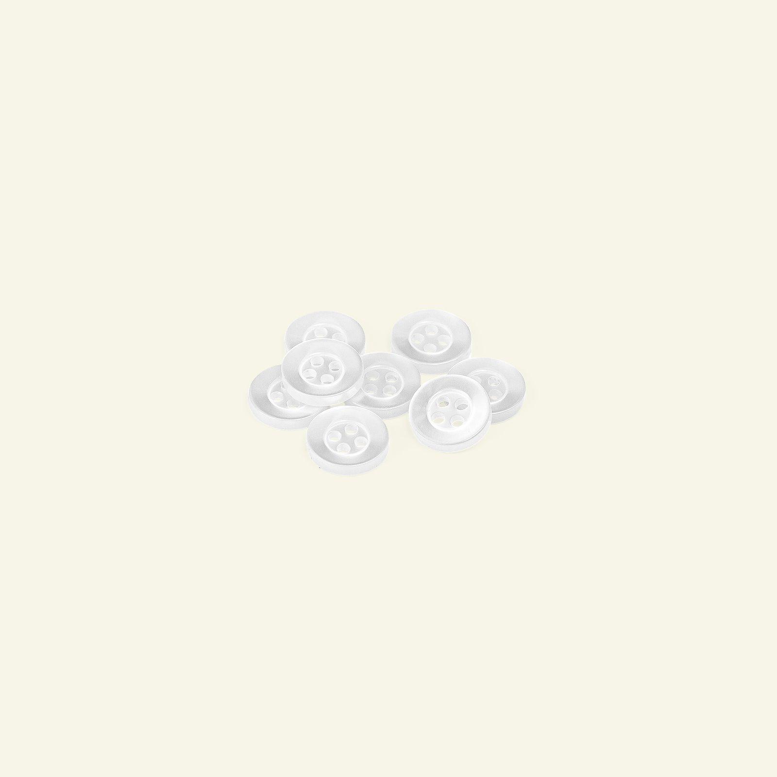 Shirt button 4-holes 12mm white 8pcs 33437_pack