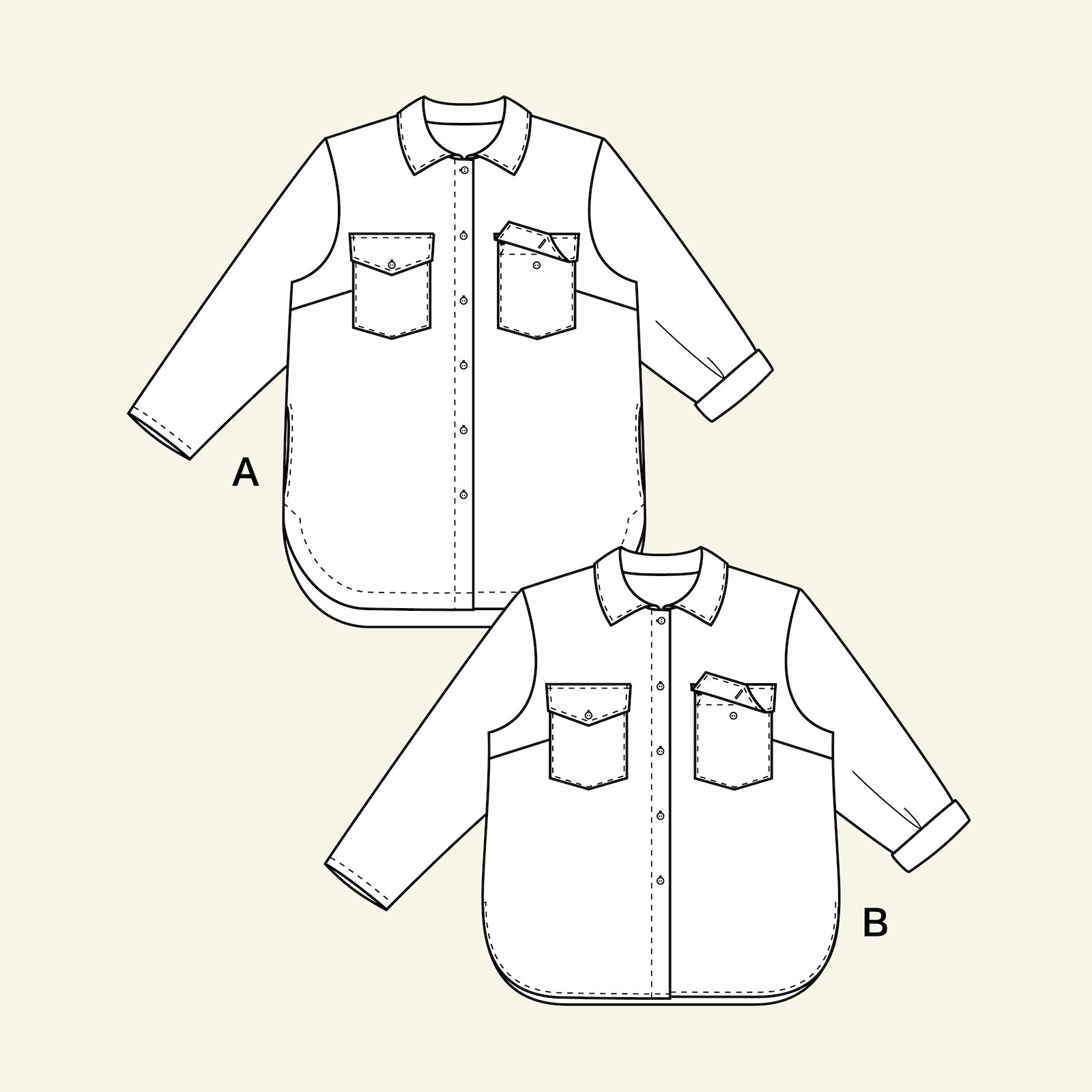 Shirt jacket p74001_pack