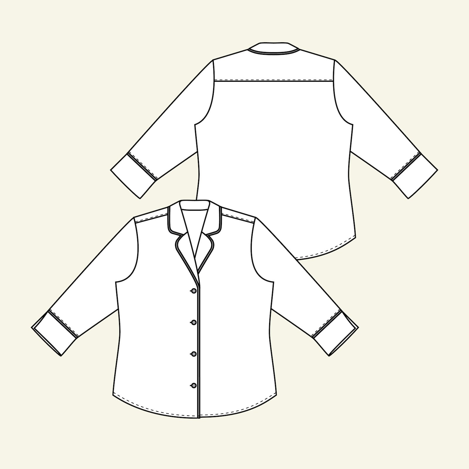 Shirt with ¾ sleeve length, 46/18 p22058_pack