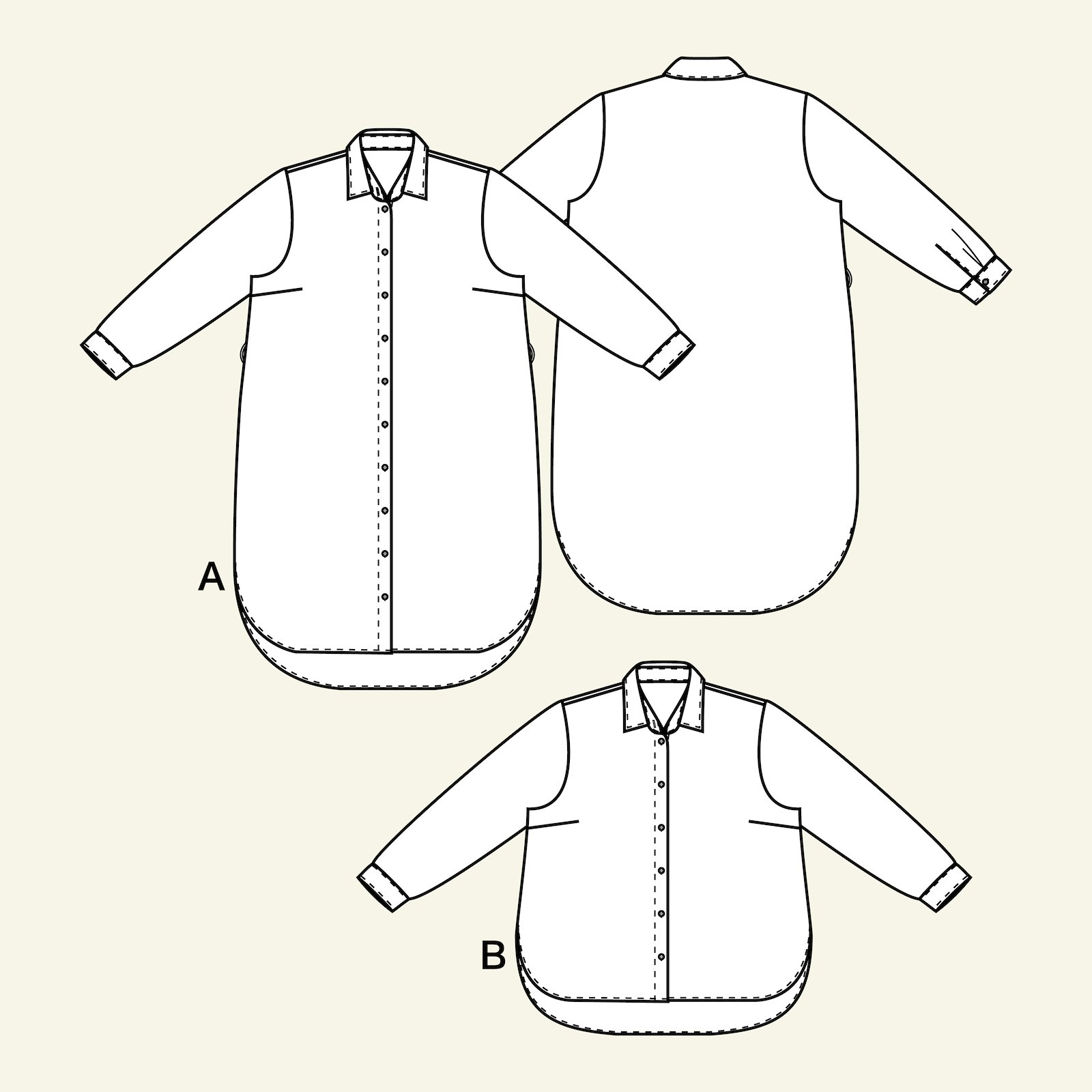 Shirtdress and shirt, 50/22 p73012_pack