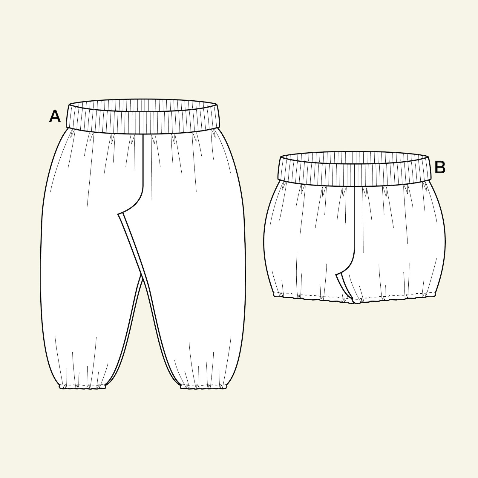 Shorts and long trousers, 74/9m p80006_pack