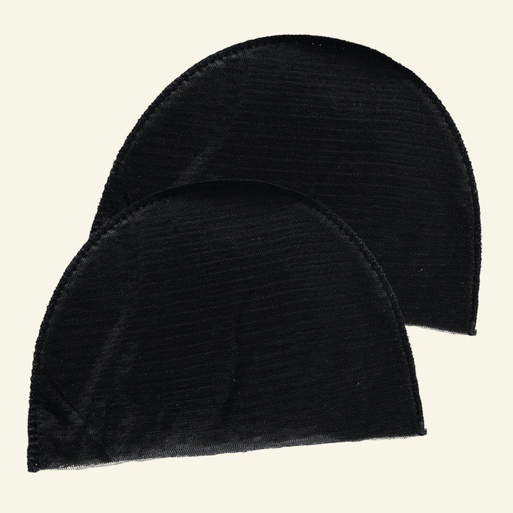 Shoulderpad regular soft black 2pcs 37083_pack