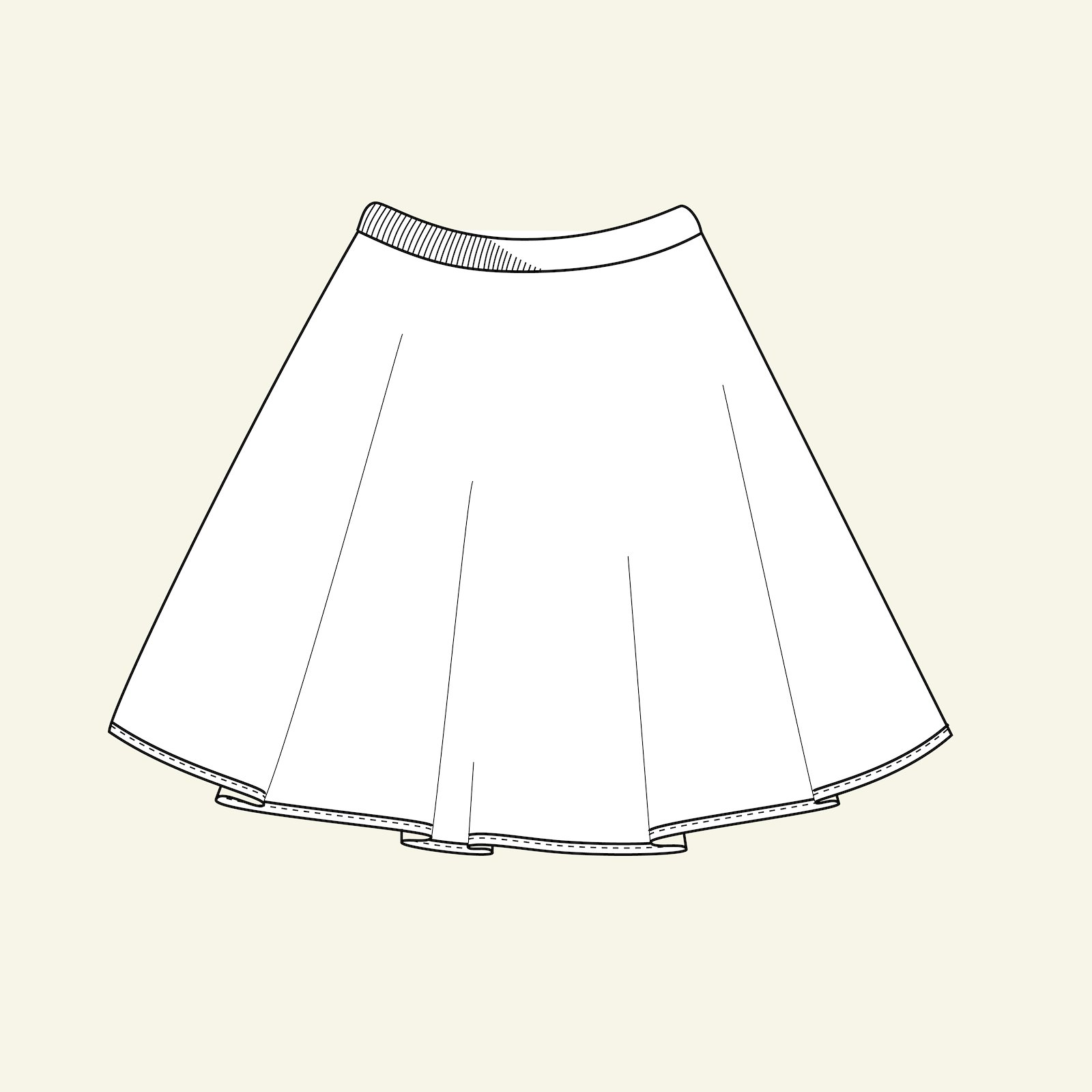 Skirt circular, 104/4y p61019_pack
