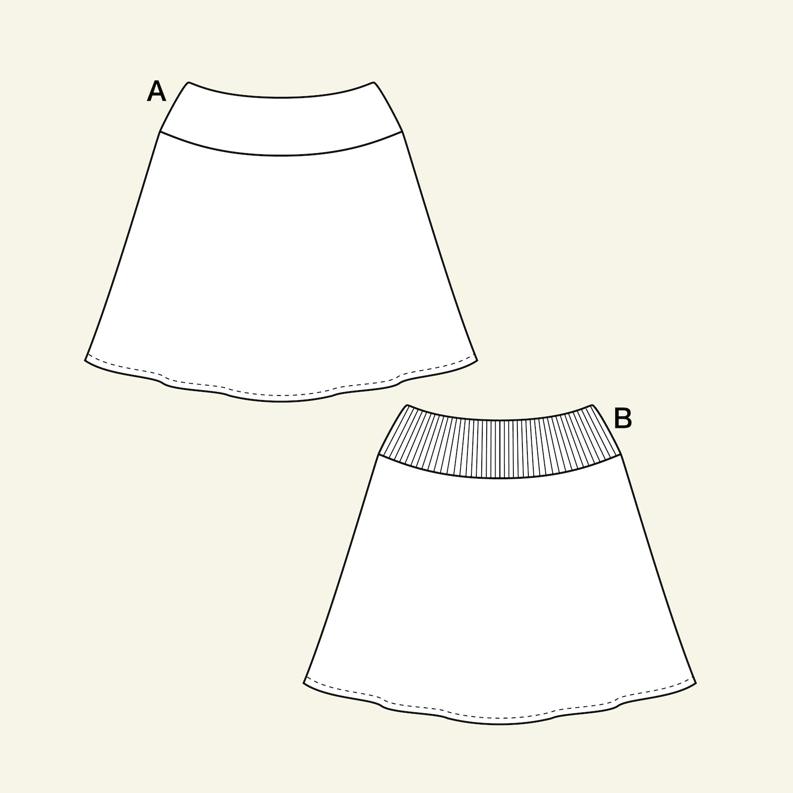 Skirt with A-shape, 44/16 p21042_pack