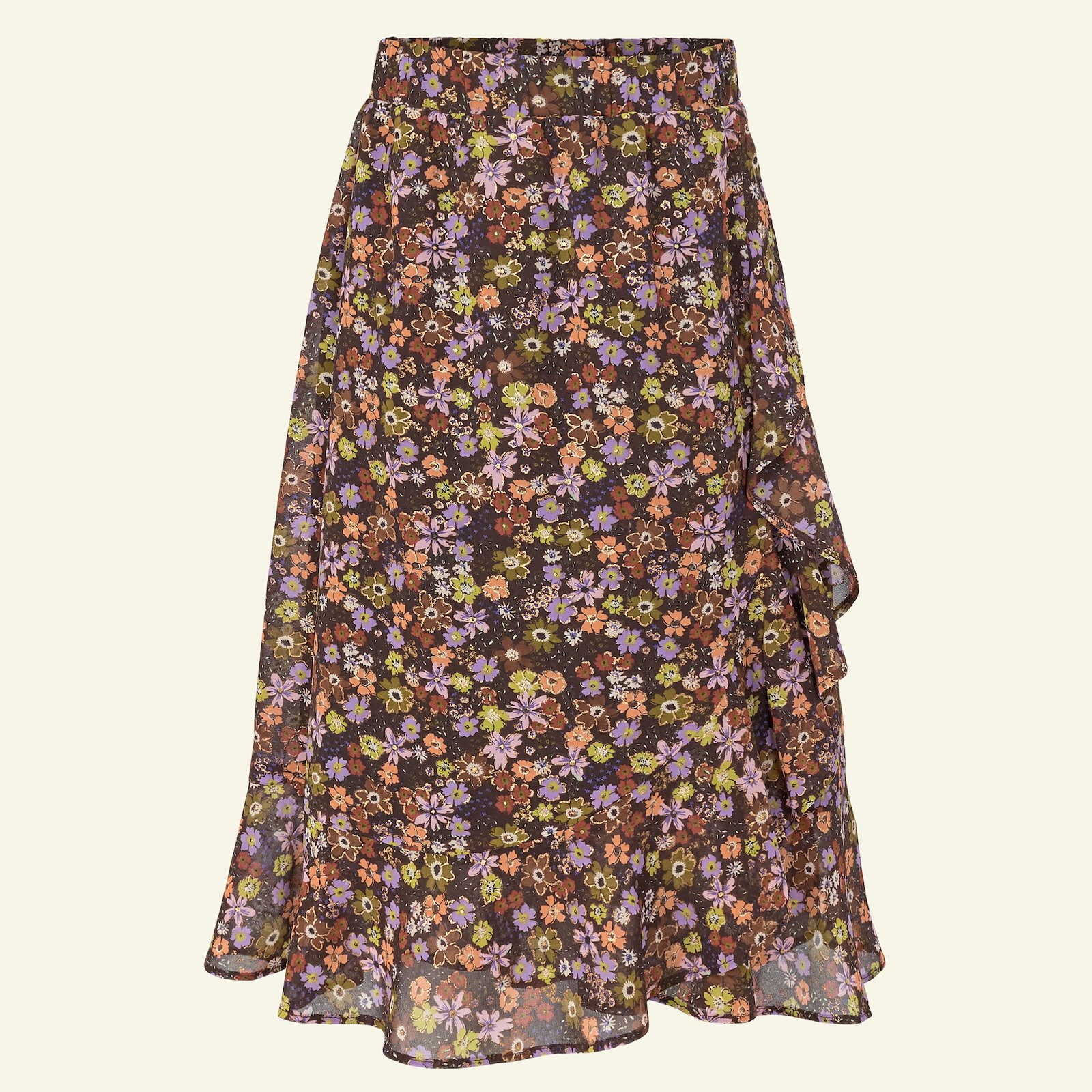 Skirt with flounce, 134/9y p61016_631244_sskit