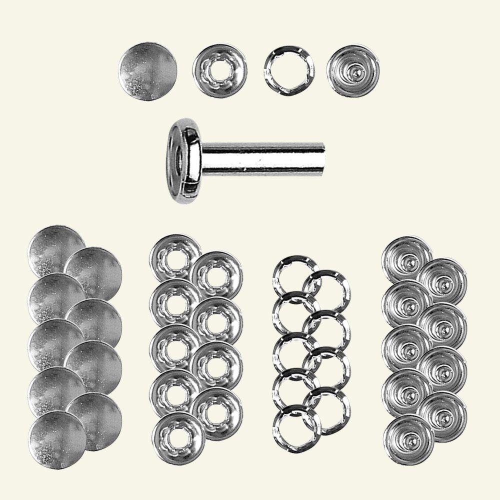 Snap button w/cape 12mm silver 10pcs 45089_pack