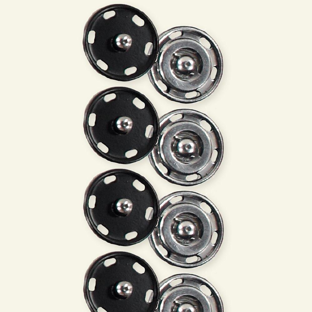 Snap fastener 21mm black 4pcs 40442_pack