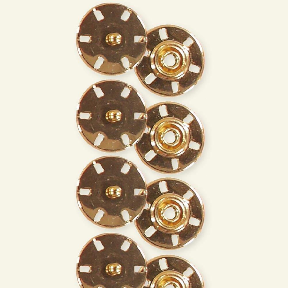 Snap fastener 21mm gold 4pcs 40443_pack
