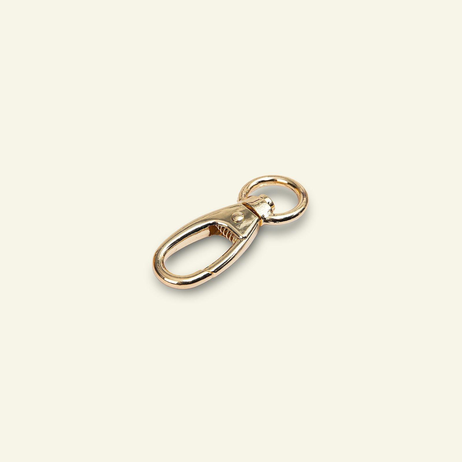 Snap hook metal 62mm gold 1pc 45546_pack