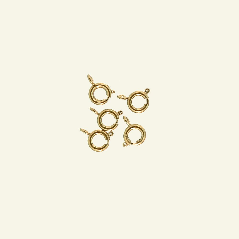 Snap hook round 6mm gold plated 5pcs 45835_pack