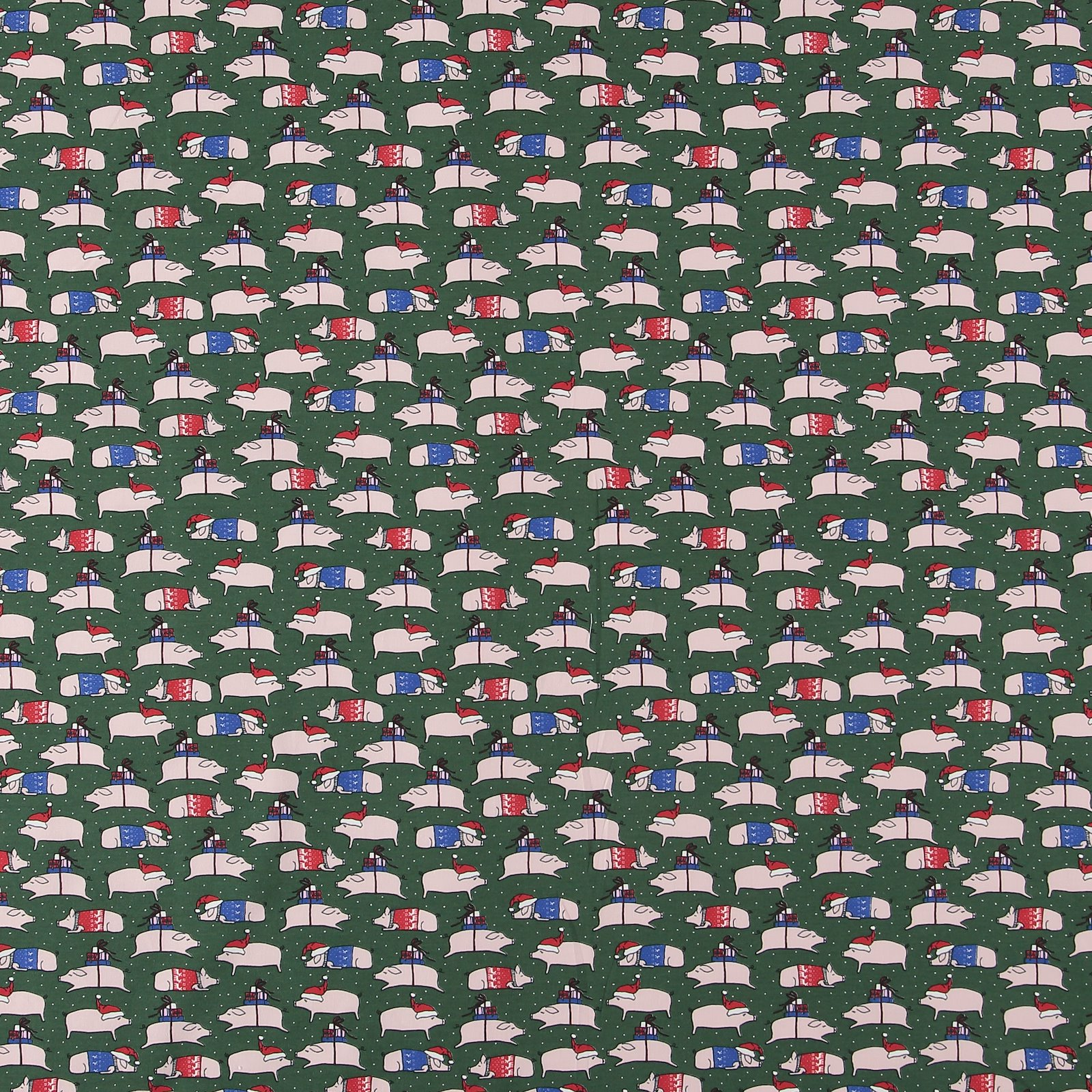 Stretch jersey green with christmas pigs 272622_pack_sp