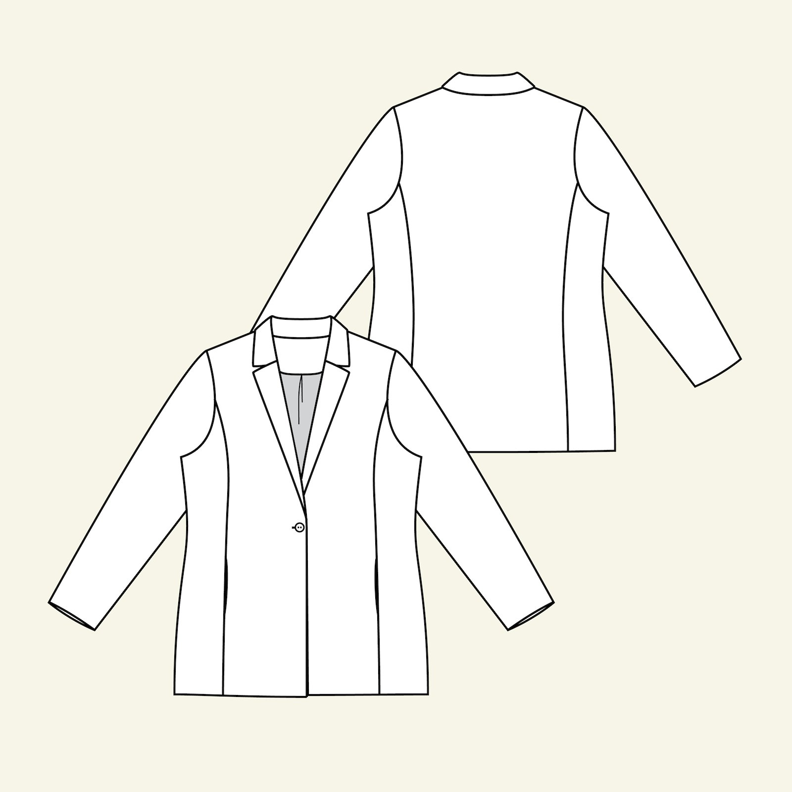 Suit jacket with lining p24048_pack