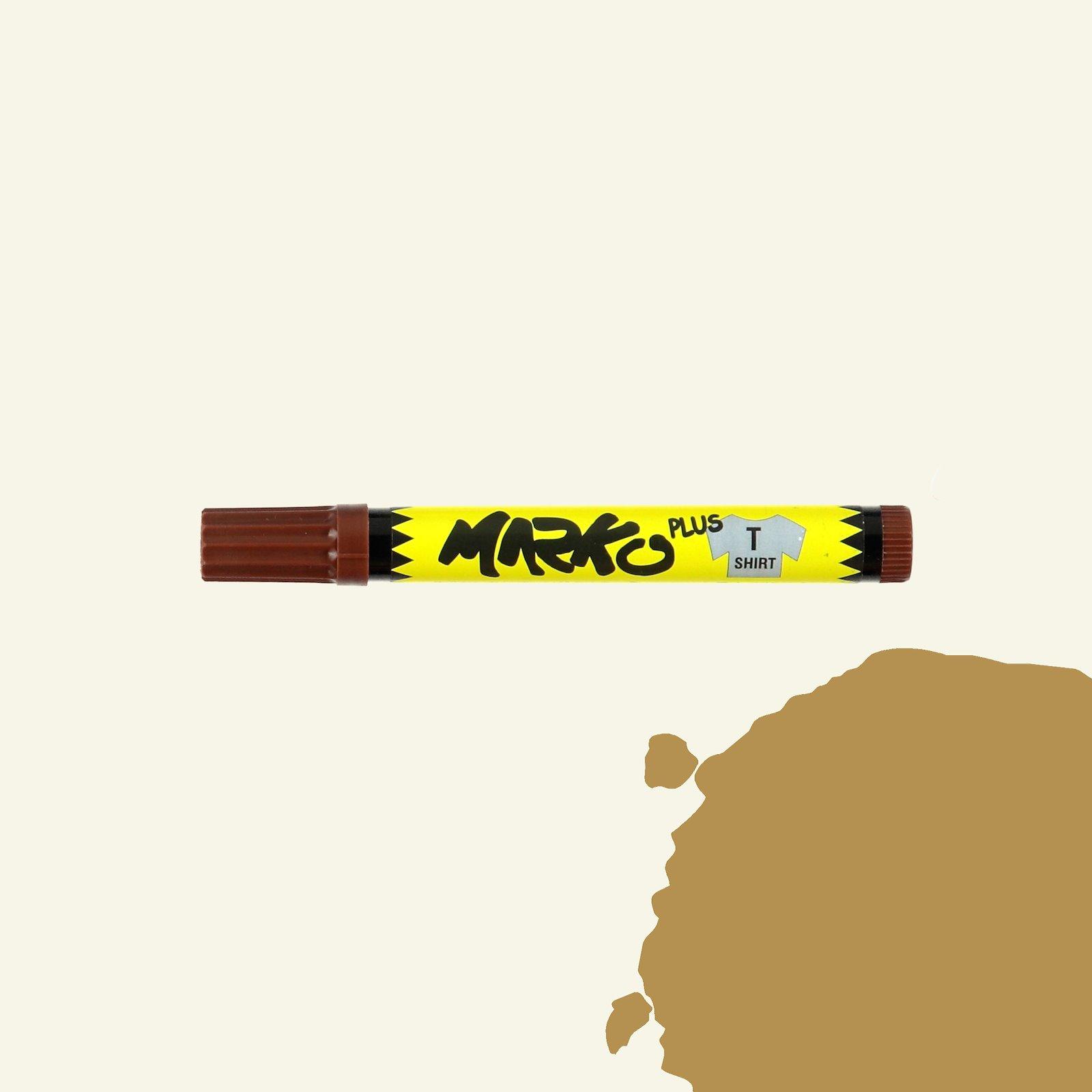 Textile pen permanent 5mm brown 29310_pack