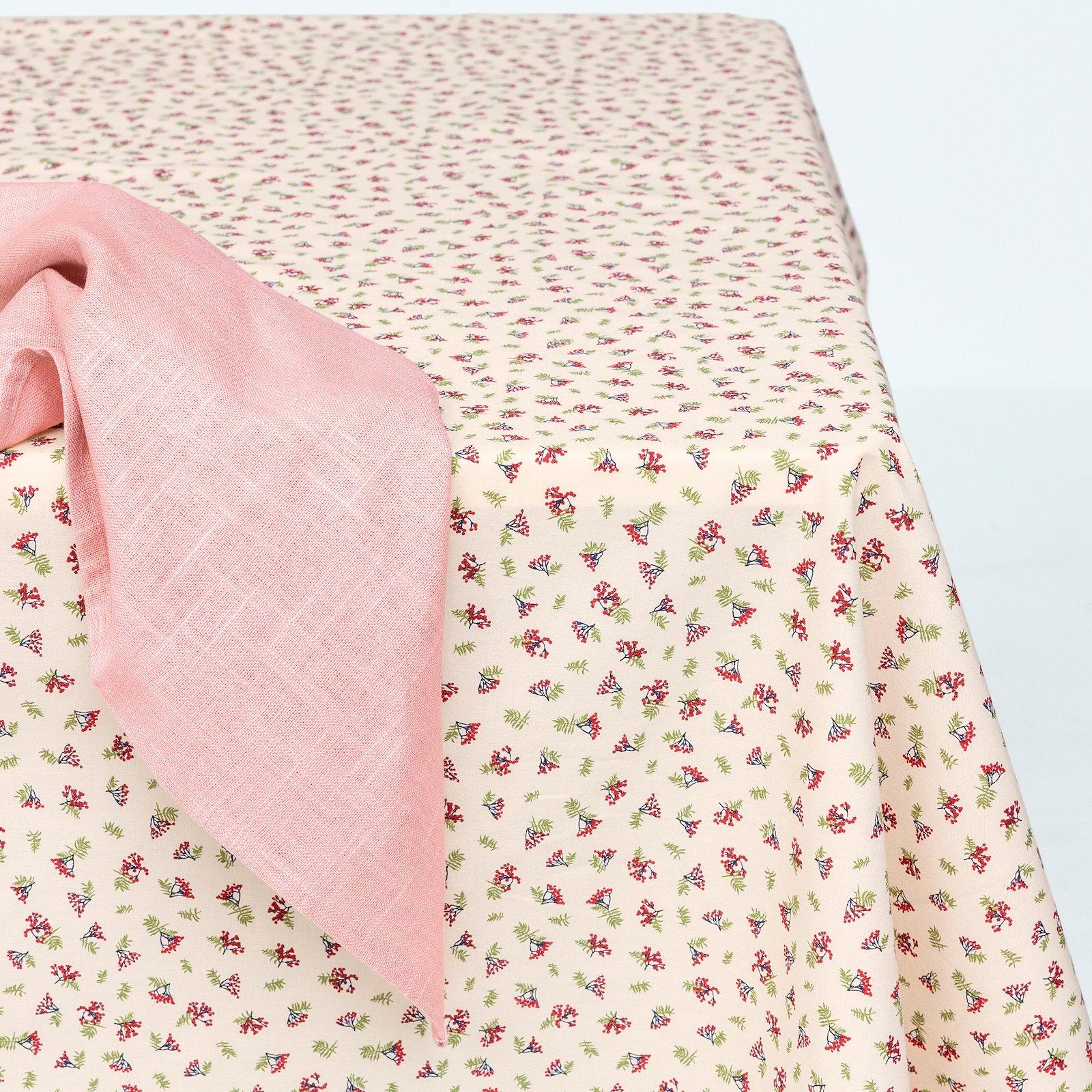 Textilwachstuch, offwhite mit roten Beer 866133_DIY8003_410140_bundle