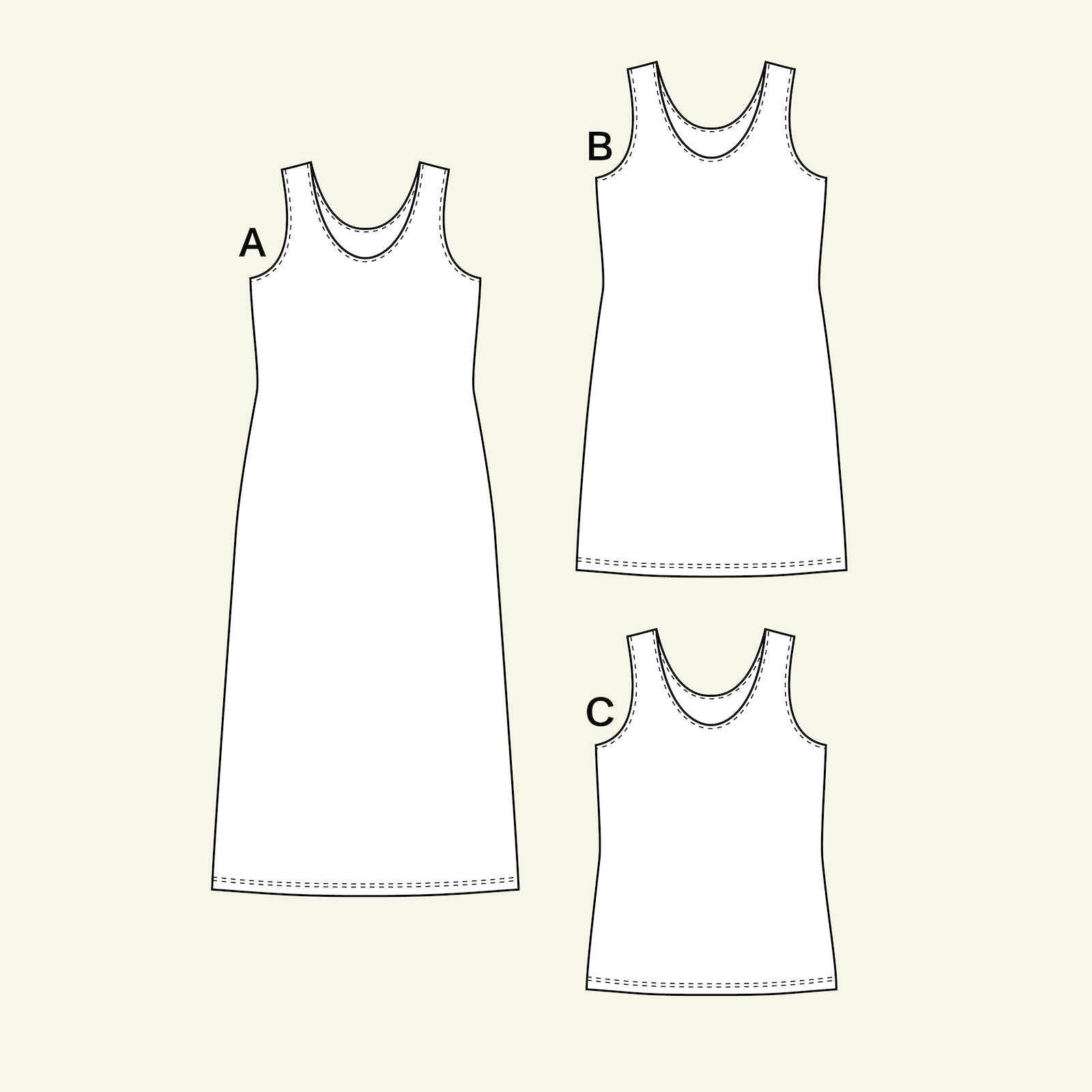 Top and dress, 42/14 p22071_pack