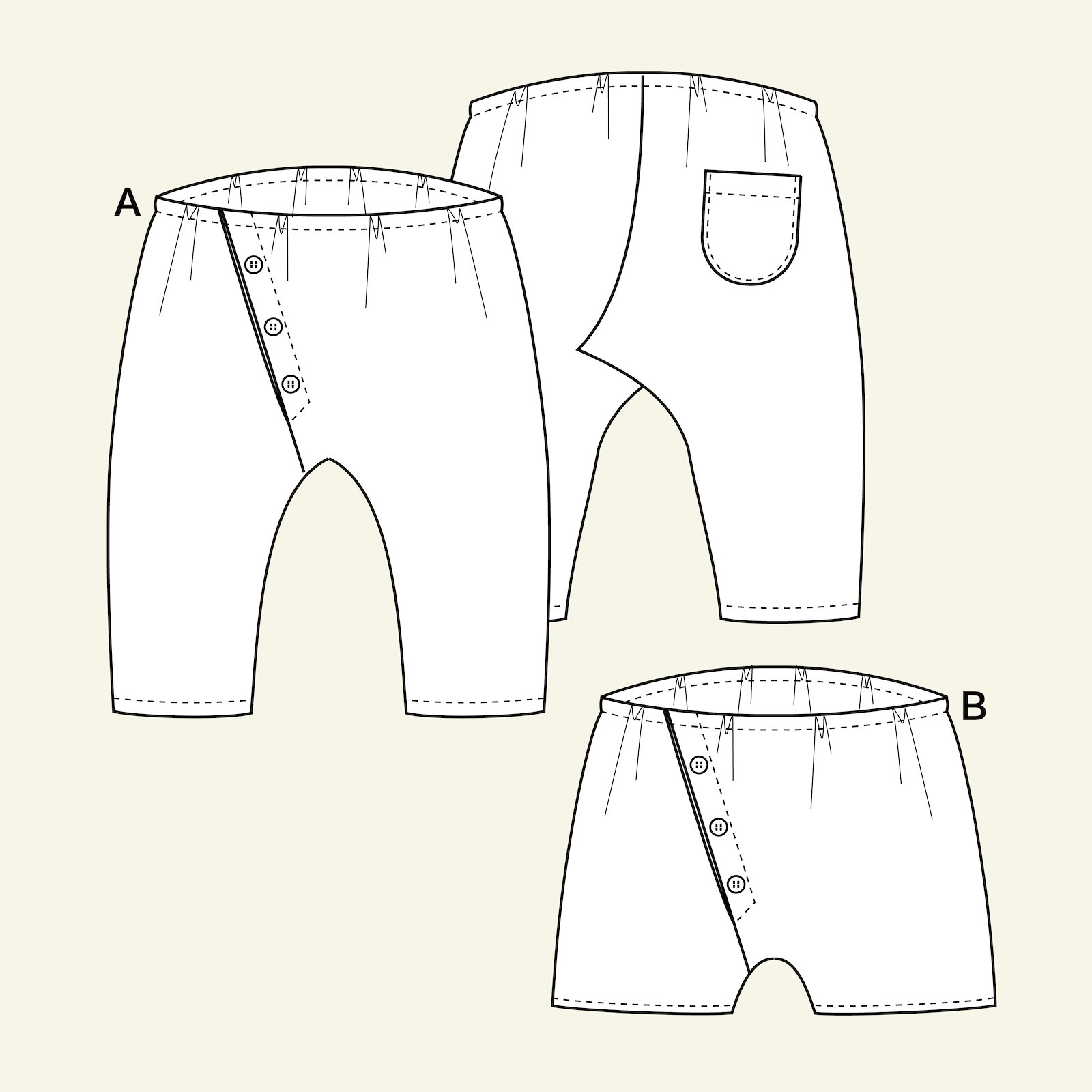 Trousers and shorts, 74/9m p80008_pack