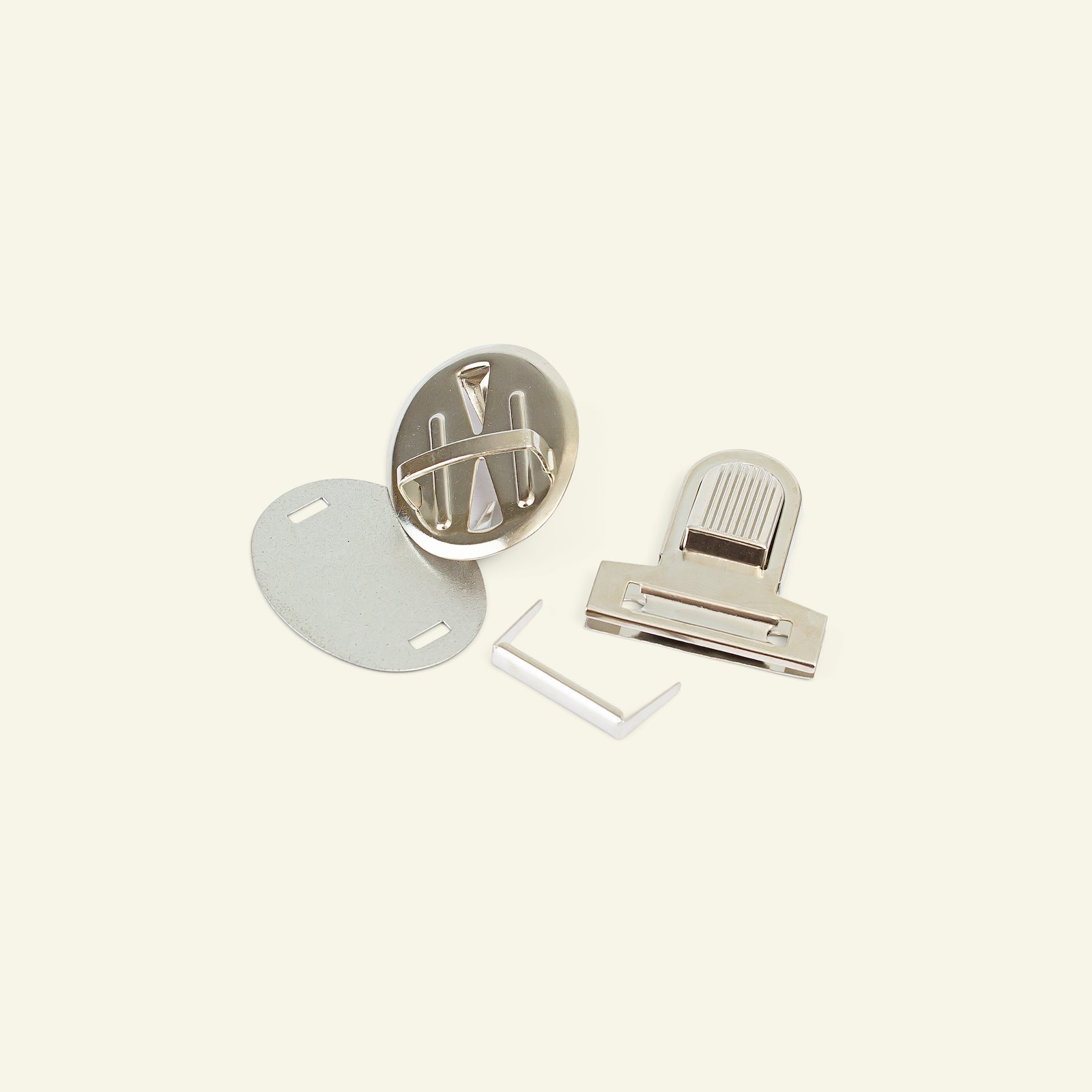 Tuck lock metal 32x36mm gold 1pc 43010_pack