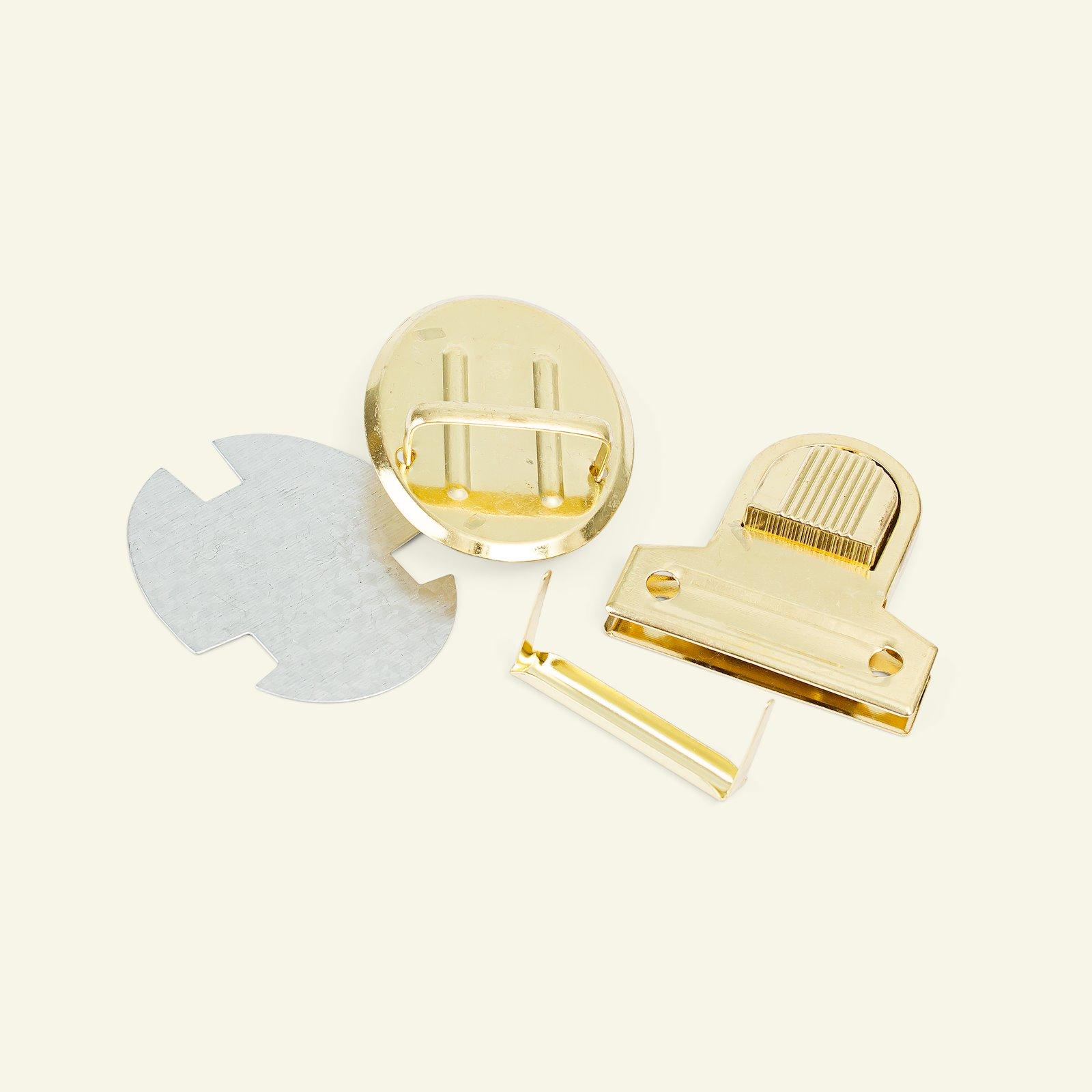 Tuck lock metal 44x45mm gold 1pc 43009_pack
