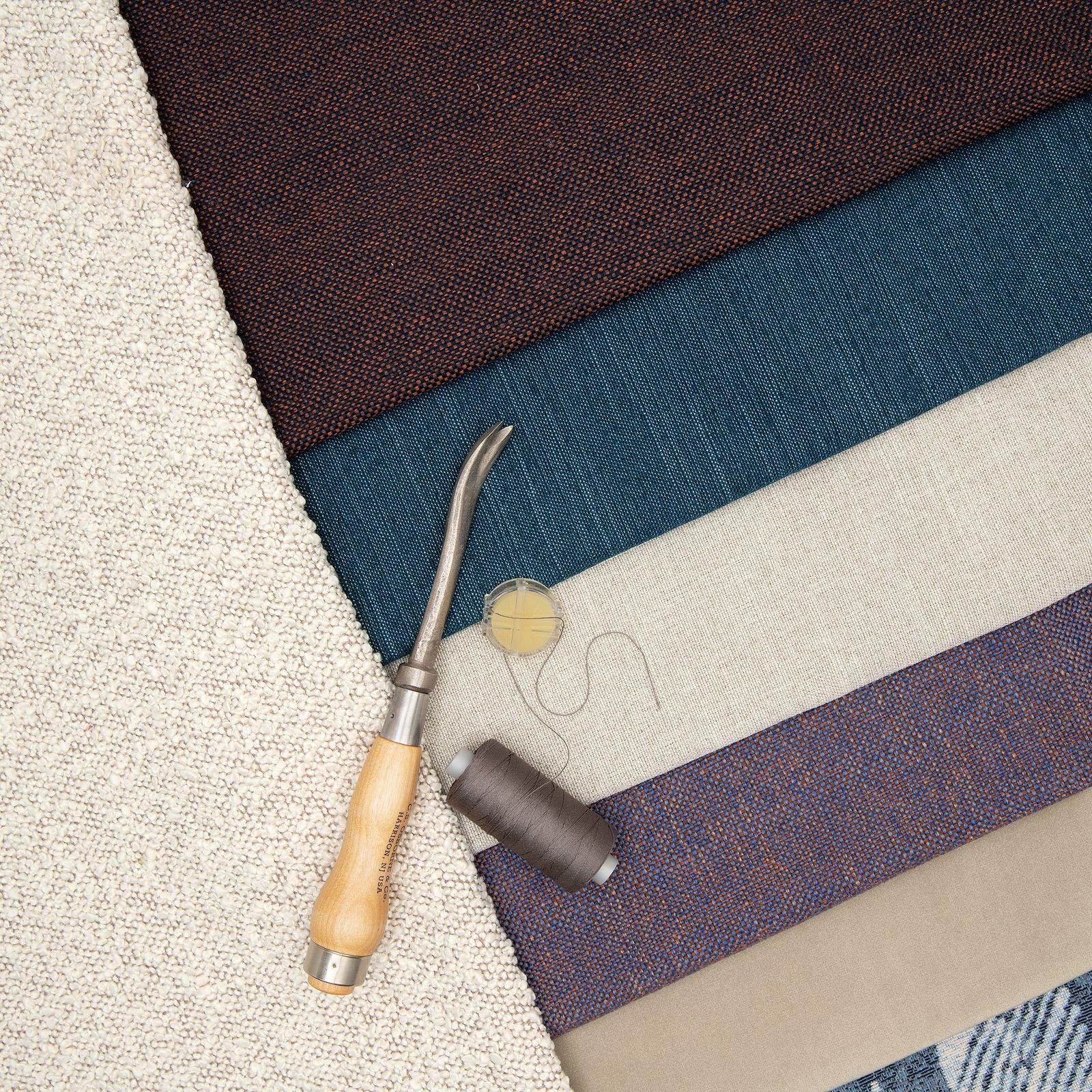 Upholstery fabric cobalt blue/caramel 824161_824157_824153_824152_824156_824158_bundle