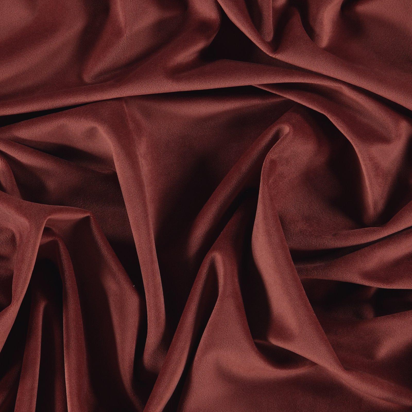 Upholstery shiny velvet rouge 823695_pack
