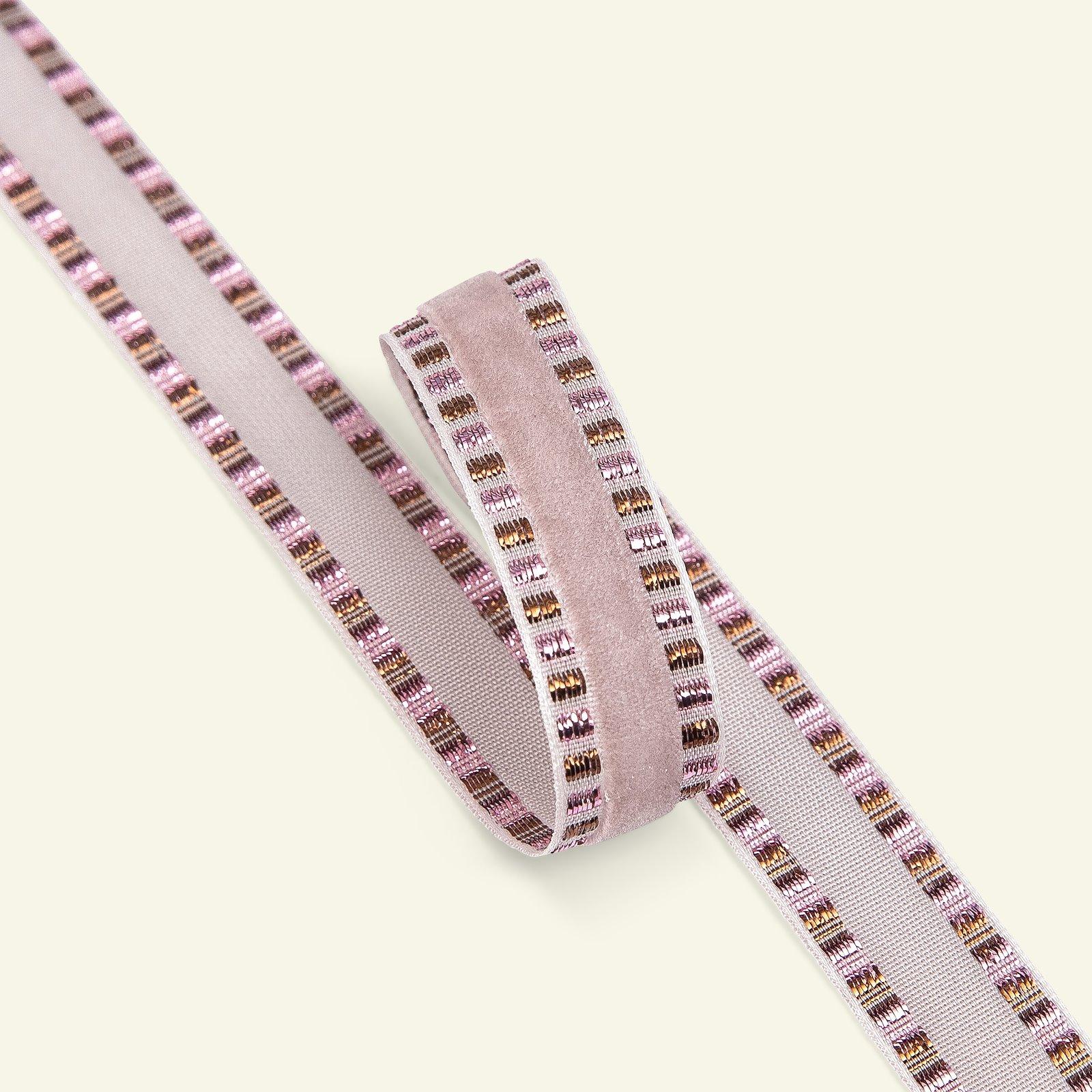 Velour ribbon 15mm ds. rose/gold lur. 3m 21383_pack