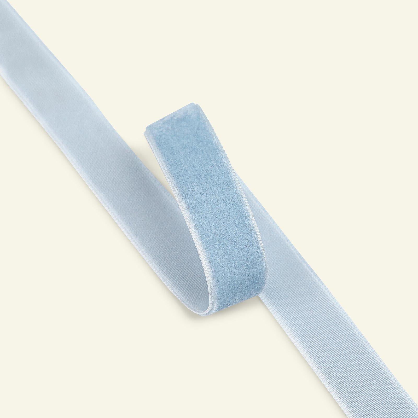Velvet ribbon 15mm dusty blue 3m 26091_pack
