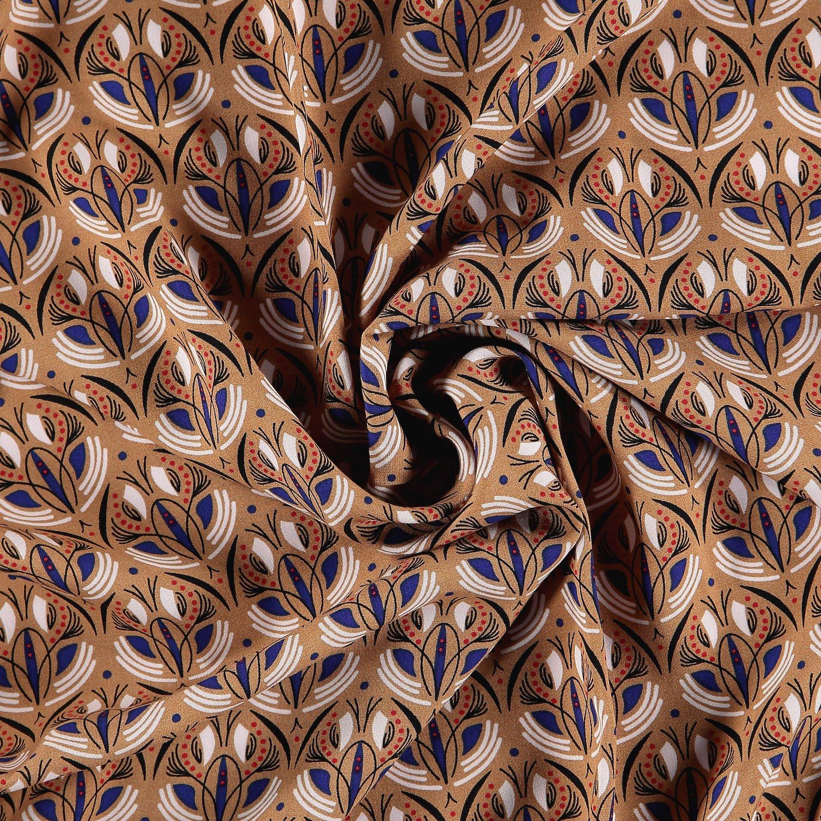 Viskose gewebt, Karamell mit Ethnoprint 710671_pack
