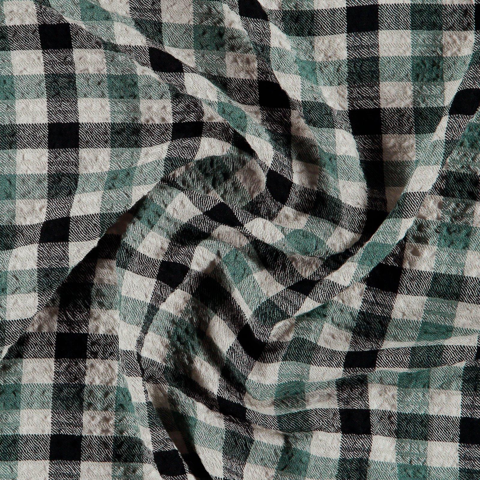 Viskose gewebt mit Struktur, Grün/Offwh. 701096_pack