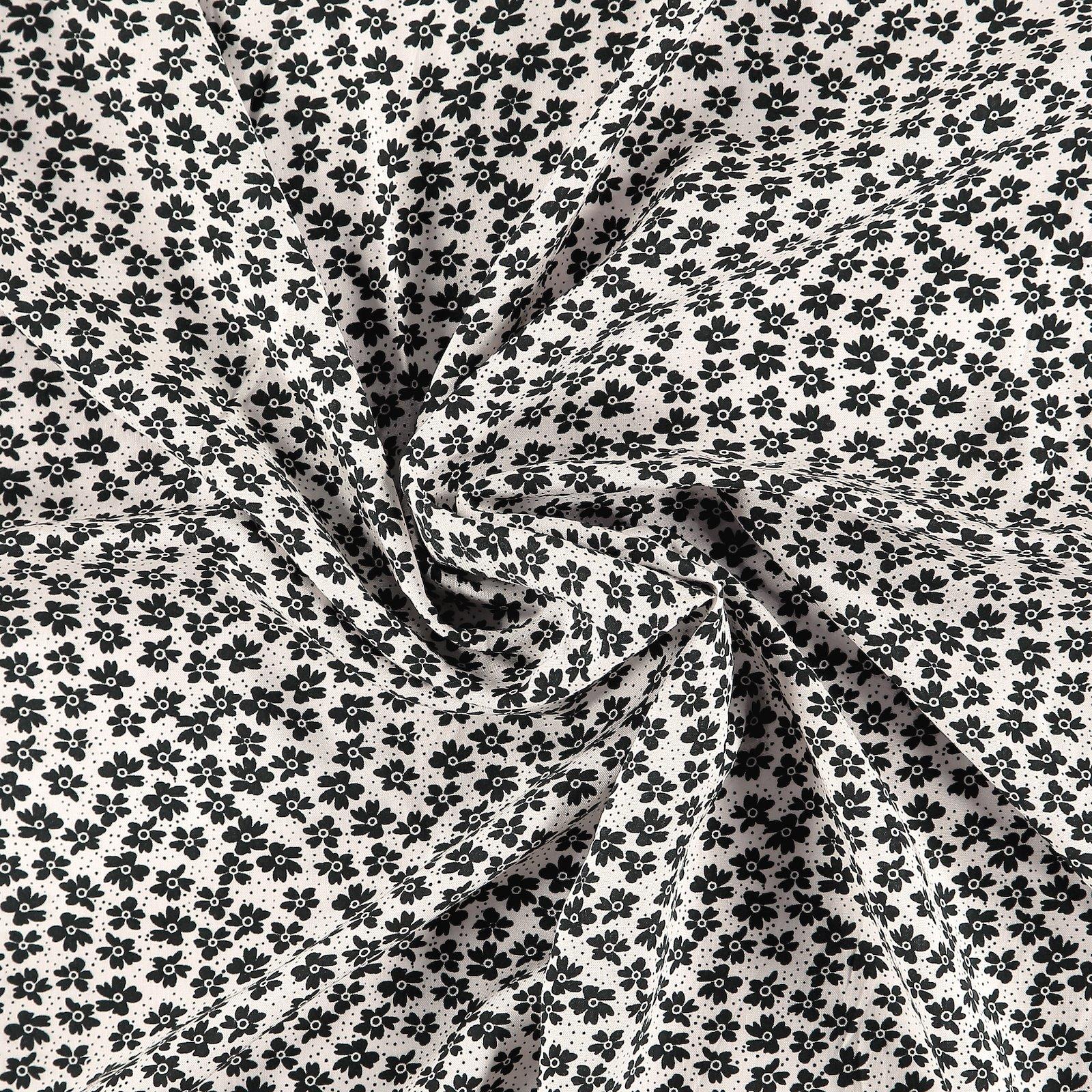 Viskose gewebt, Offwhite mit Blumen 710672_pack