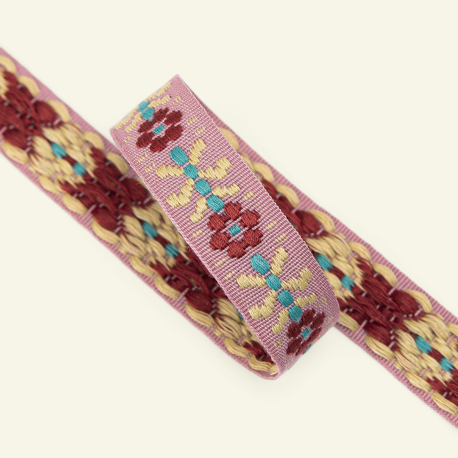 Webband Blumen 20mm Rosa/Rot/Gelb, 2m 22411_pack