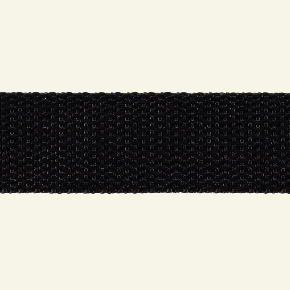 Webbing ribbon 25mm black 5m 80033_pack