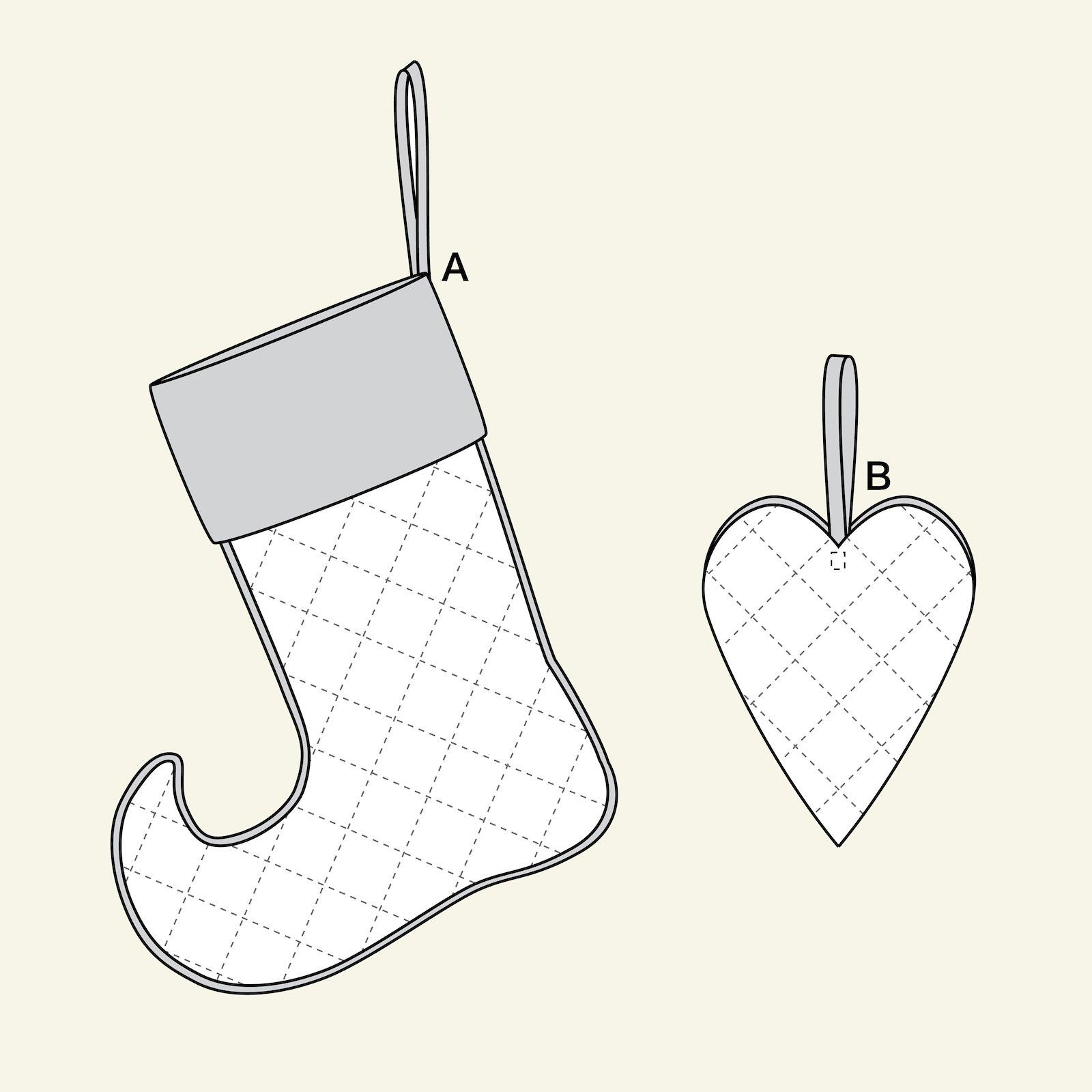 Weihnachtssocke und Herz p90311_pack