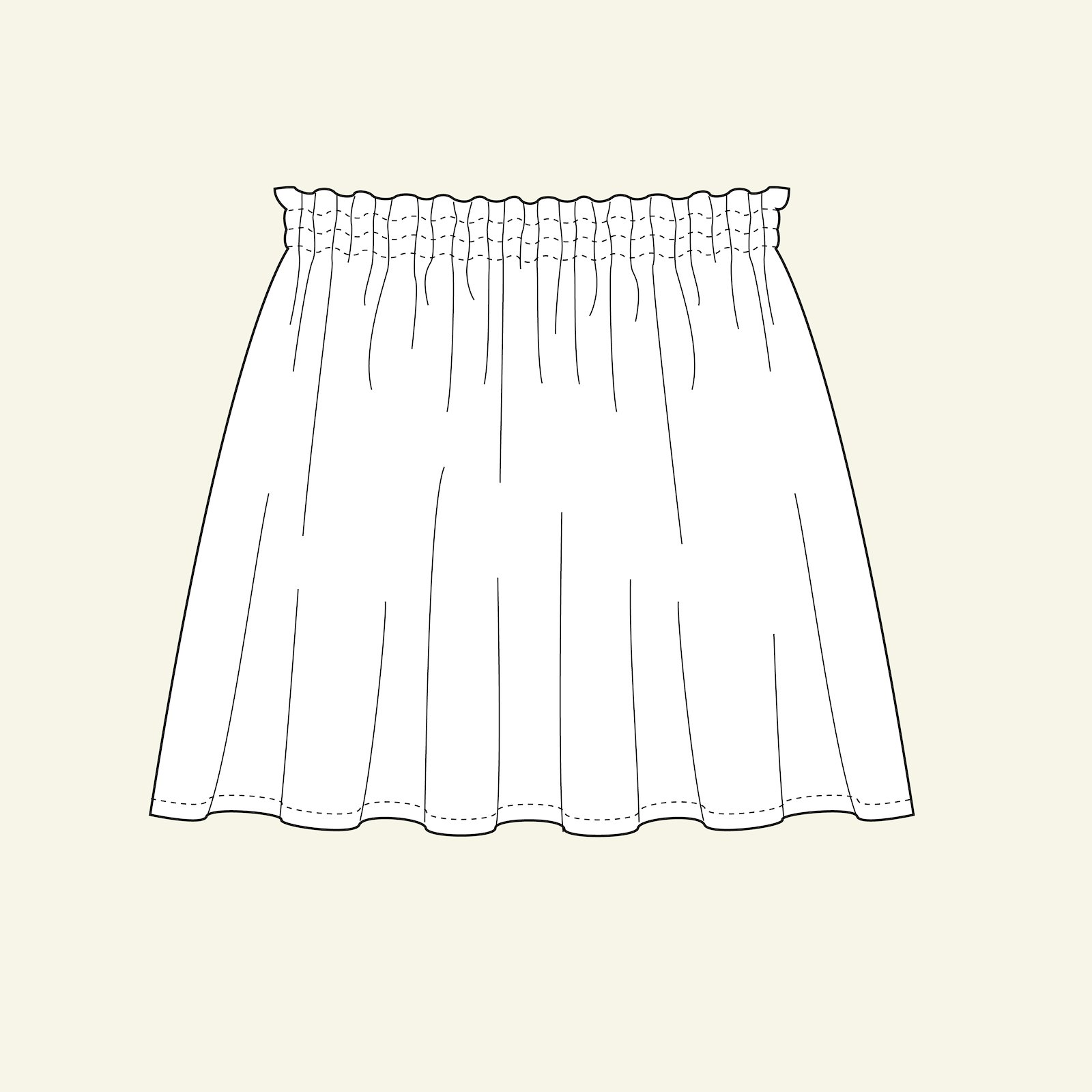 Wide skirt p61020_pack