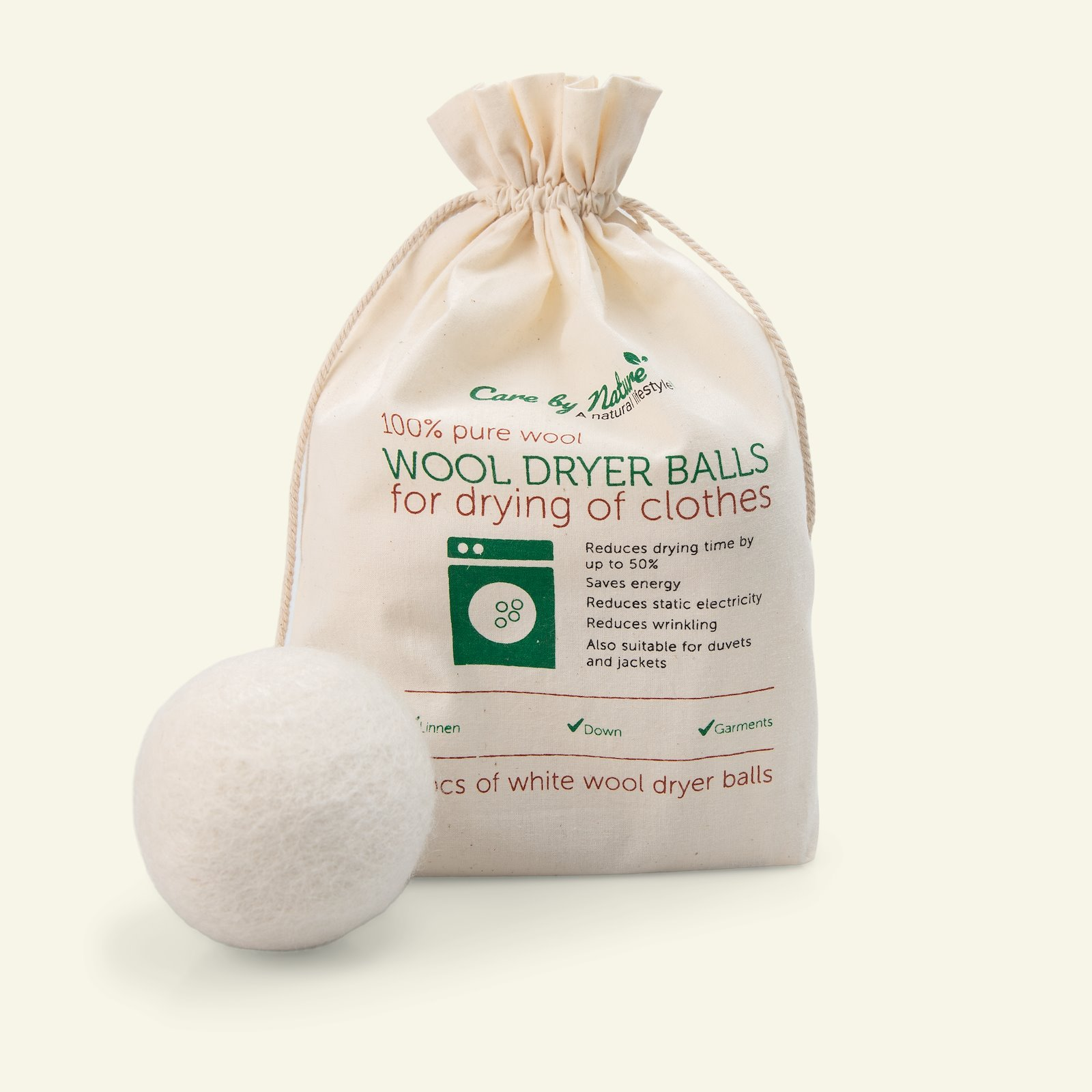 Wool dryer balls white 4pcs 39103_pack