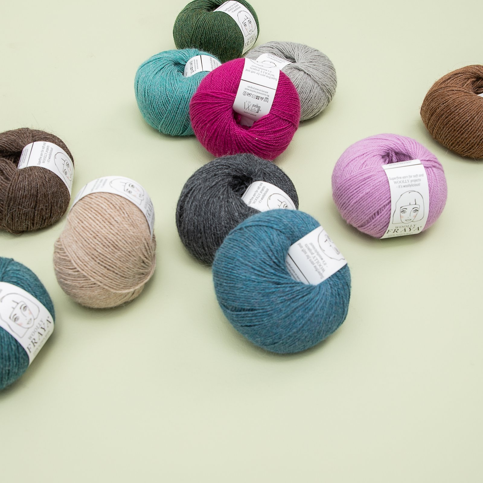 Woolly 50g aqua melange 90000062_90000064_90000066_90000068_90000069_90000070_bundle