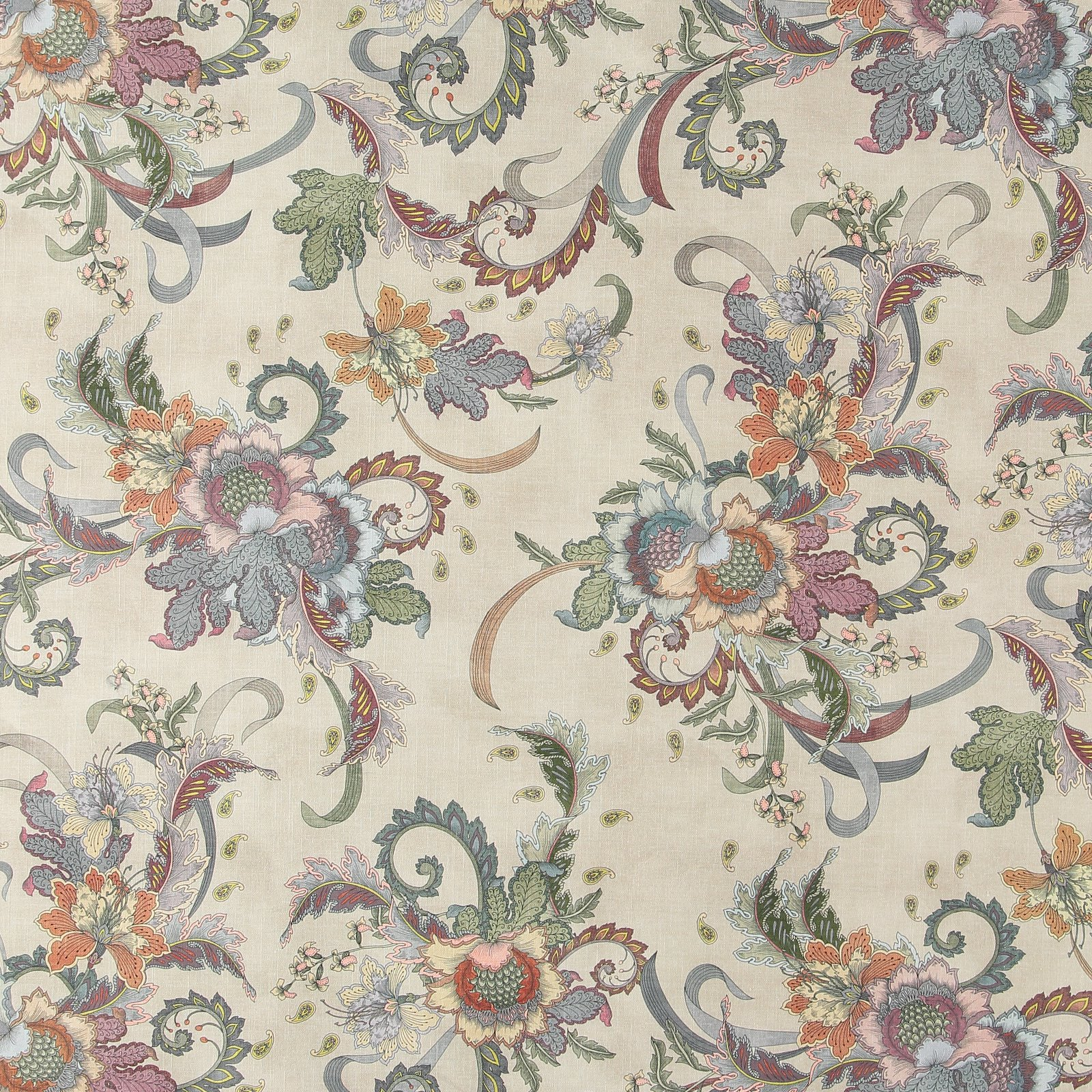Woven beige with paisley flower pattern 750416_pack_lp