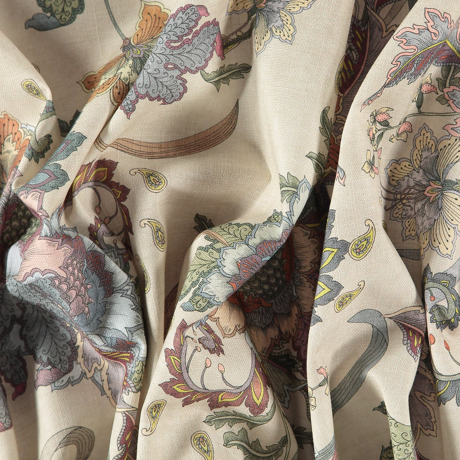 Woven beige with paisley flower pattern 750416_pack
