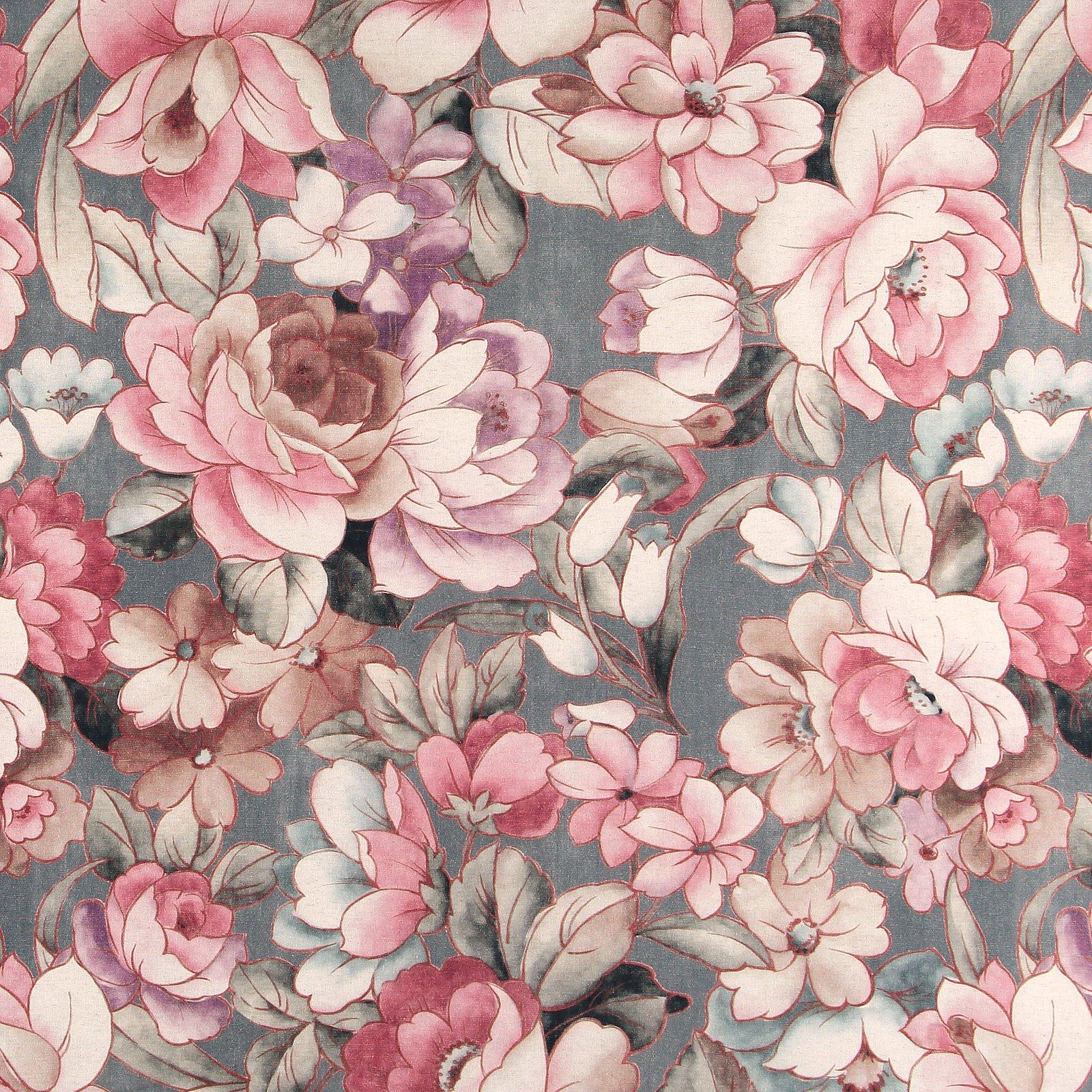 Woven cotton/linen dark grey w. flower 780589_pack_lp