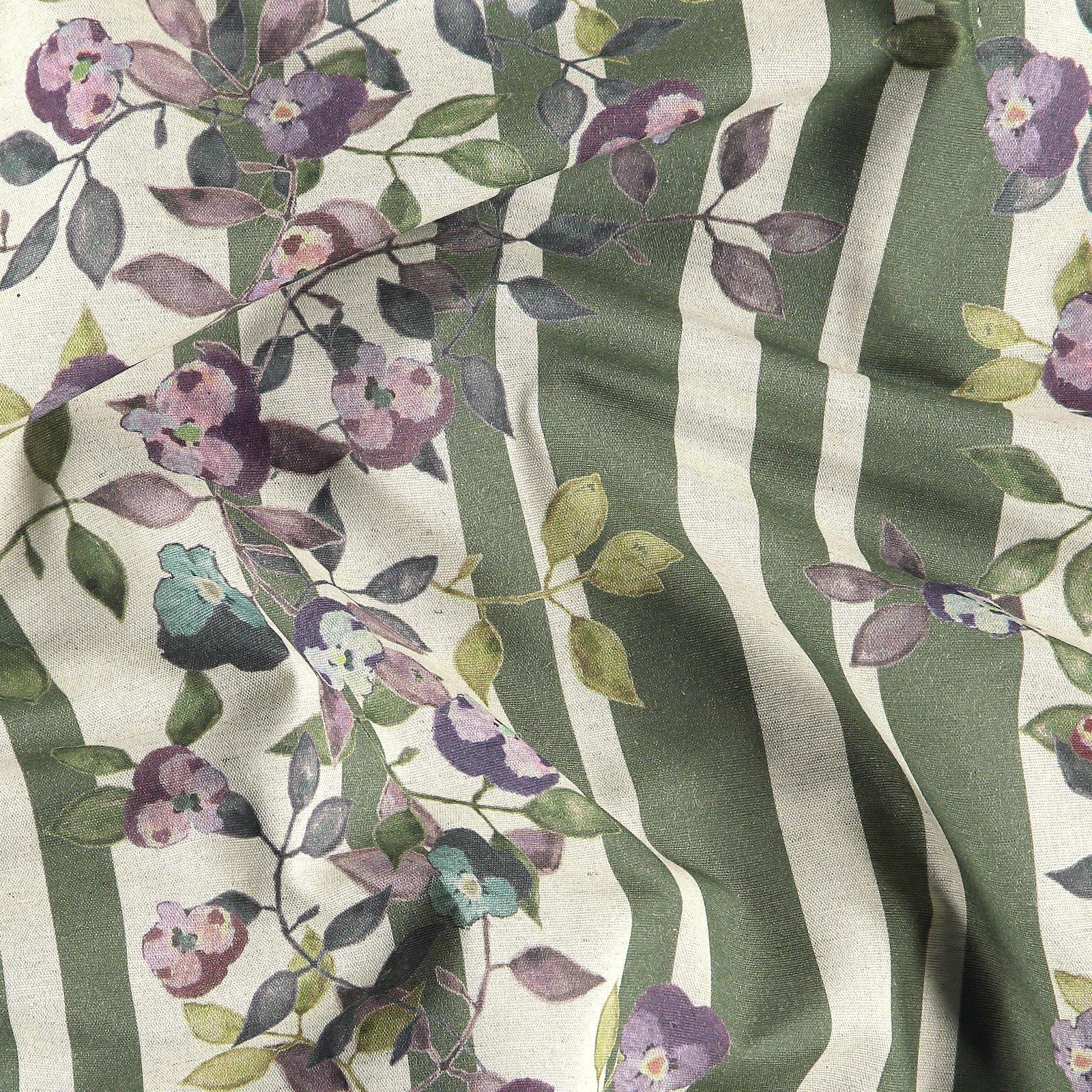 Woven cotton/linen green/rose w flowers 780576_pack