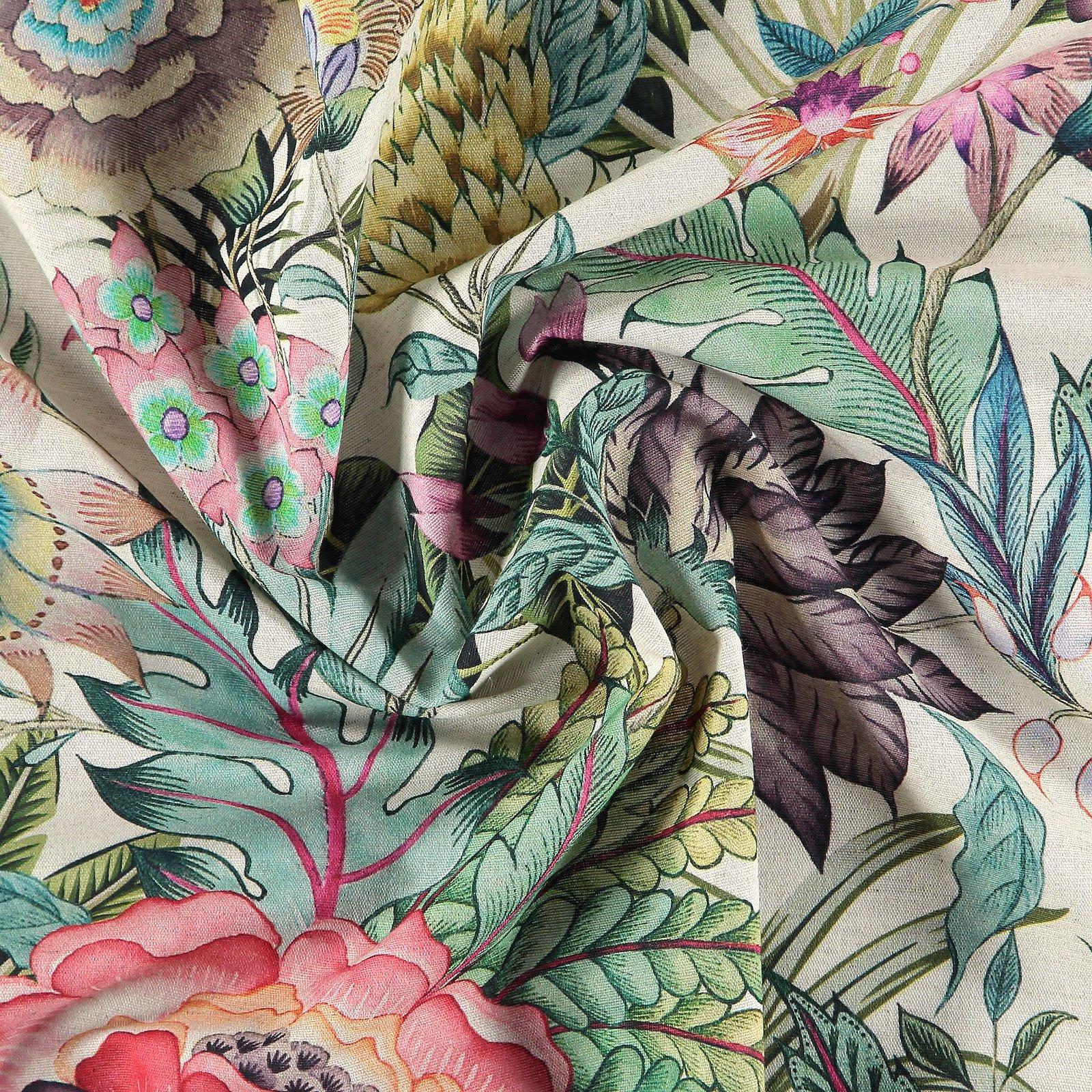 Woven cotton/linen natural w. tropic 780590_pack